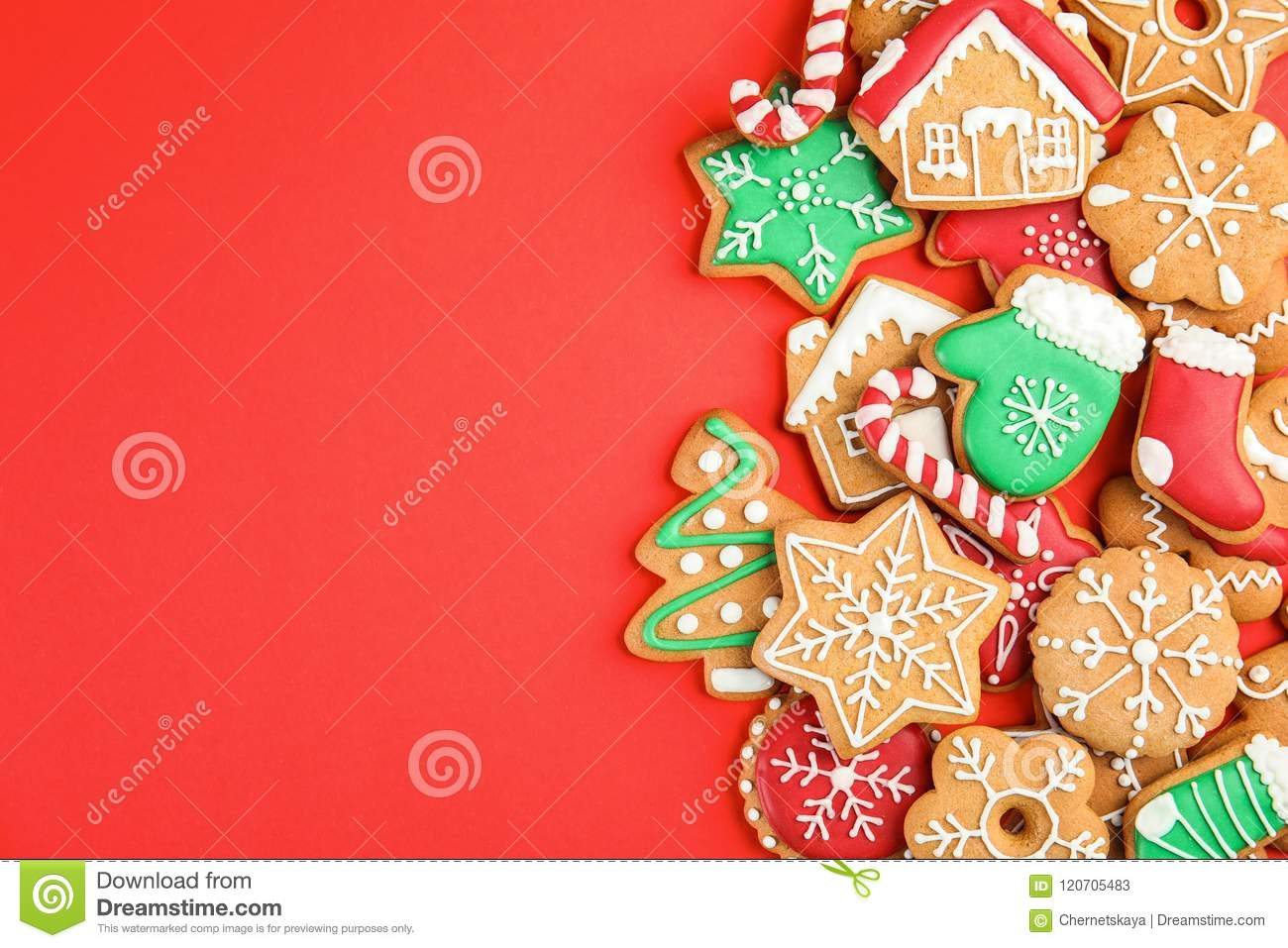 Tasty Homemade Christmas Cookies Stock Image Image Of Background