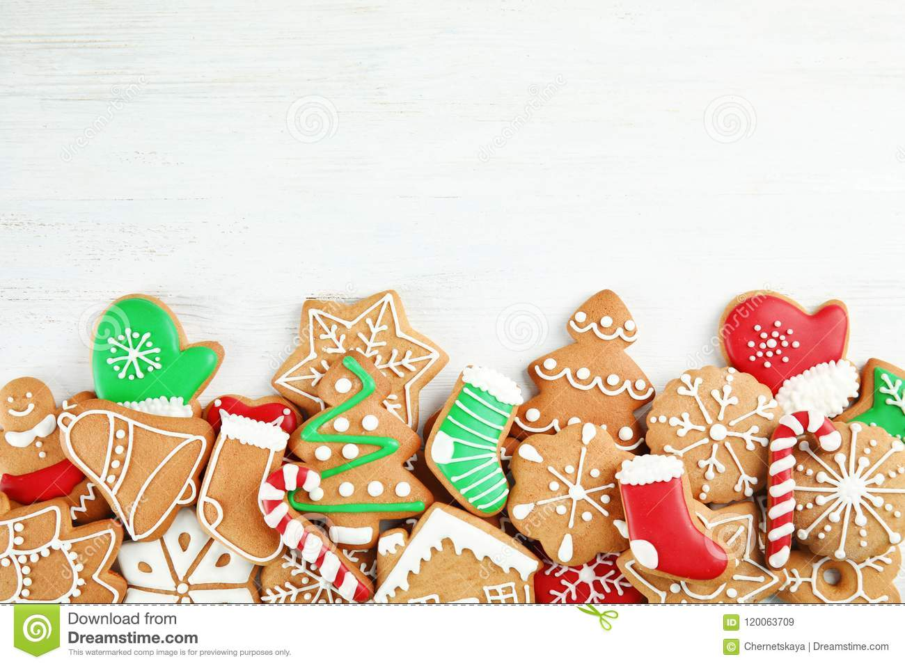 download tasty homemade christmas cookies on wooden background top view stock image image of - Homemade Christmas Cookies
