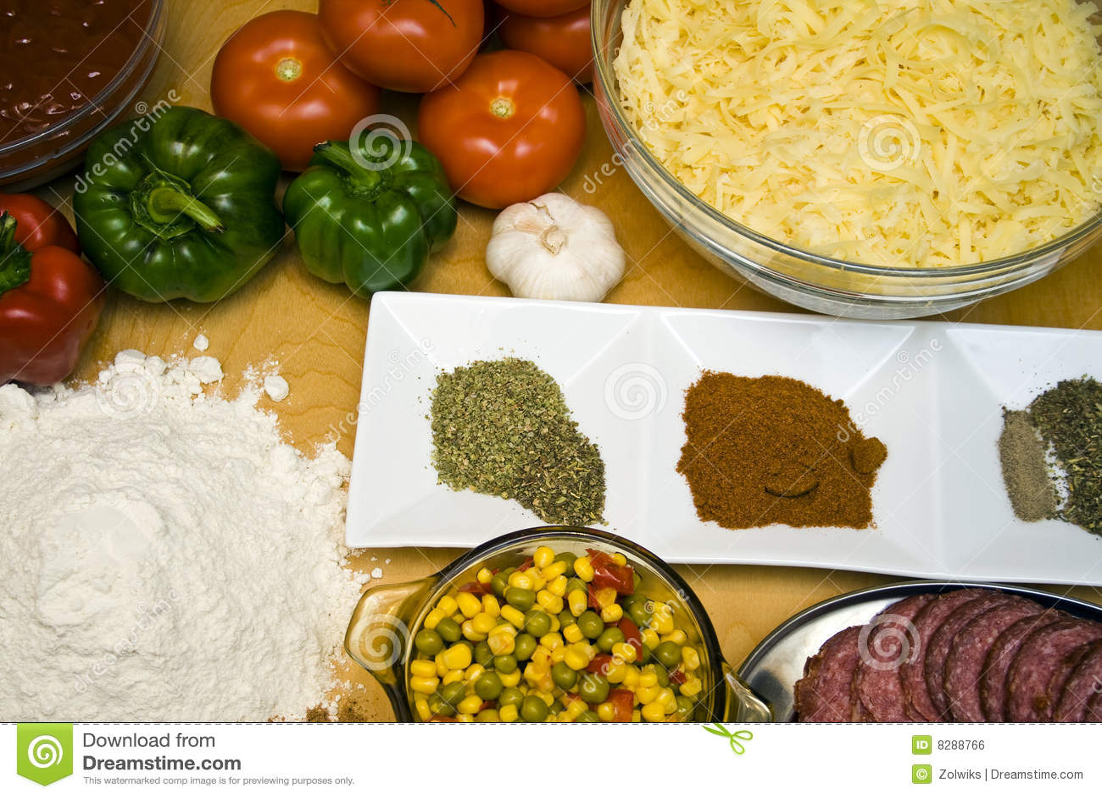 Tasty Ingredients Royalty Free Stock Image - Image: 8288766
