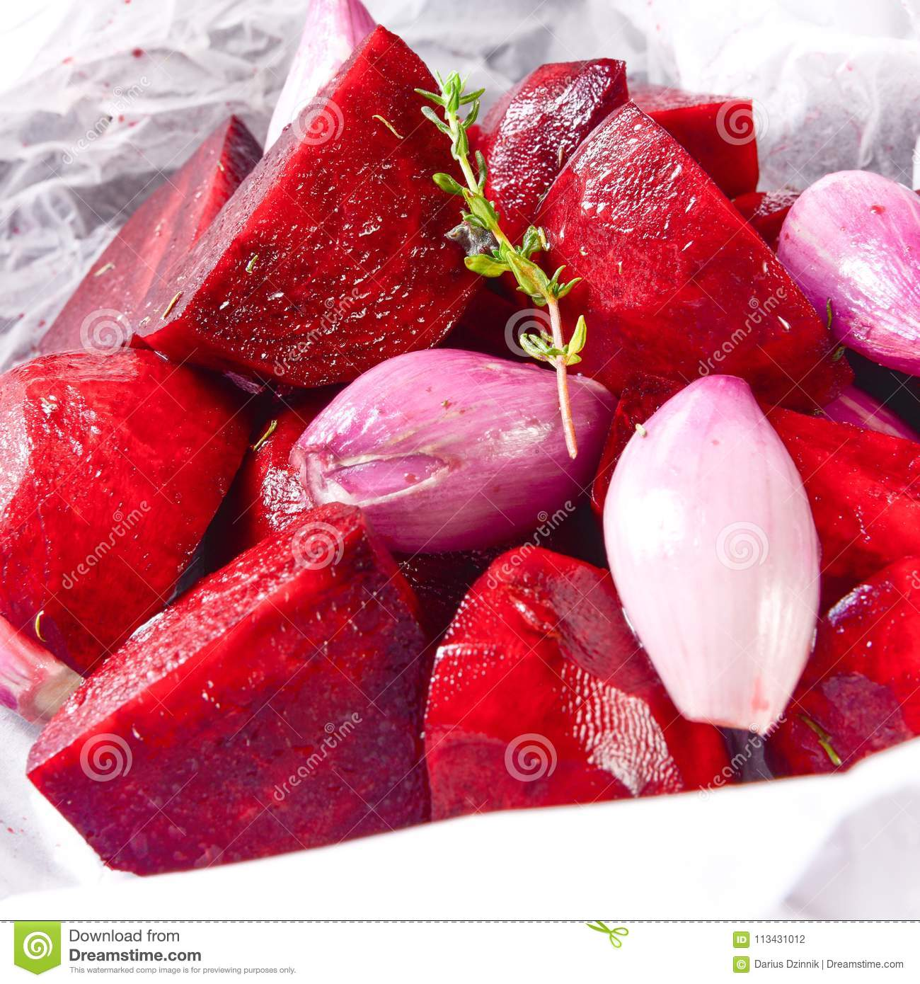 Oven baked red beets