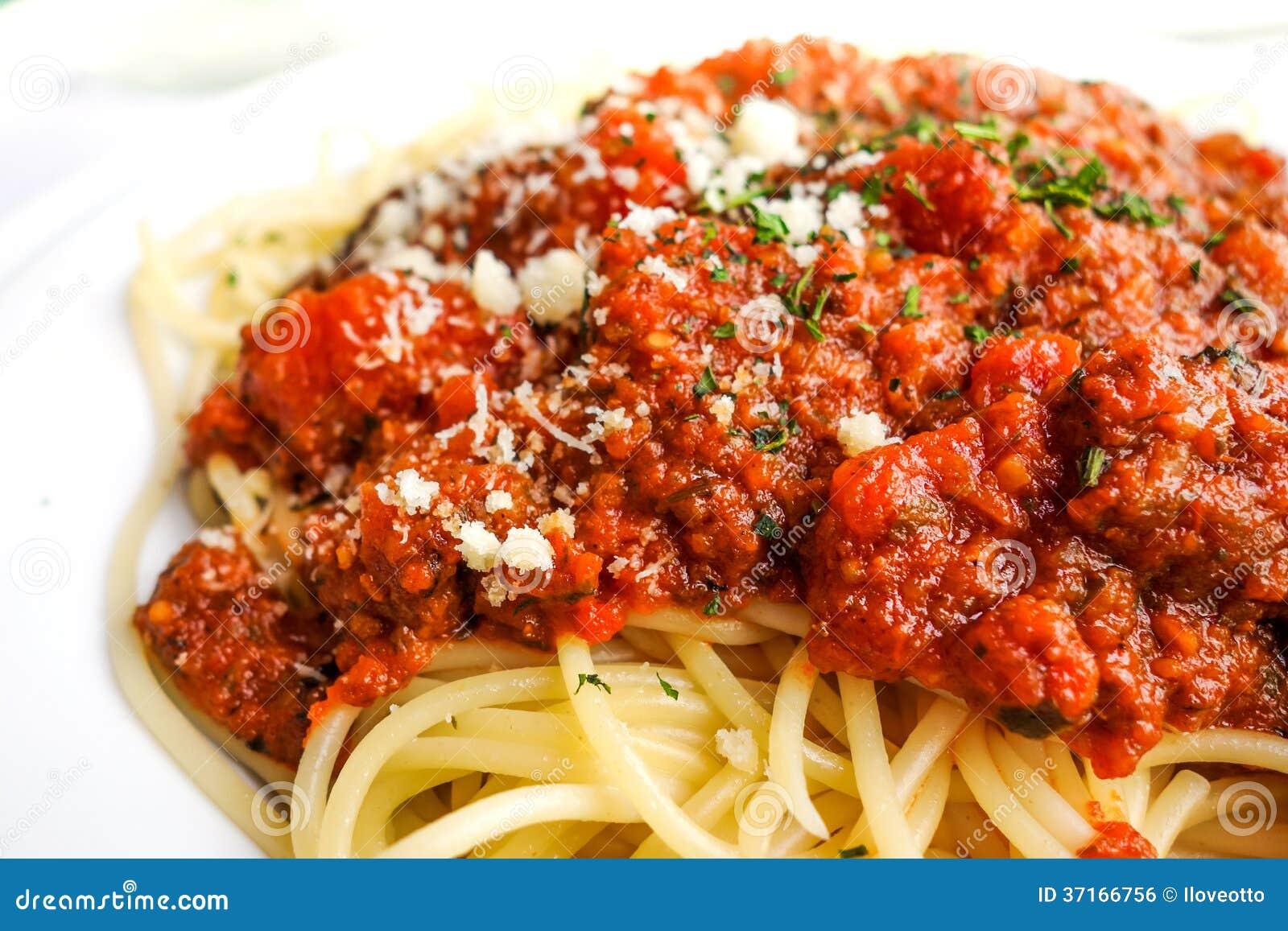 Tasty Pasta-Italian Meat Sauce Pasta Royalty Free Stock Image - Image ...