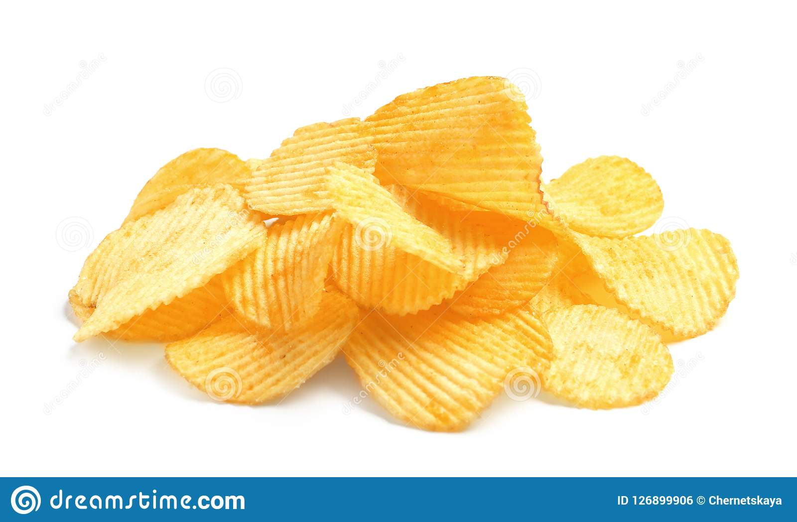 Tasty ridged potato chips