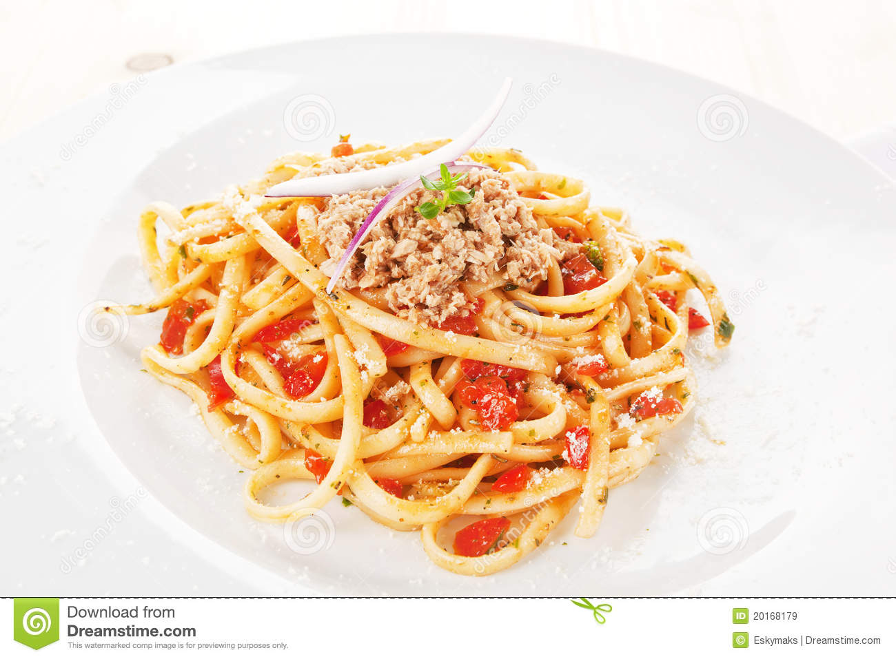 Tasty Spaghetti With Tomato Sauce And Tuna. Royalty Free Stock Images ...