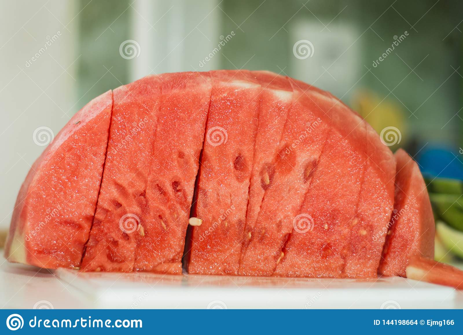 Tasty watermelon slices at home