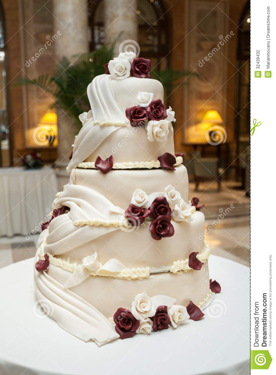 Tasty Wedding Cake Stock Photo Image Of Taste White