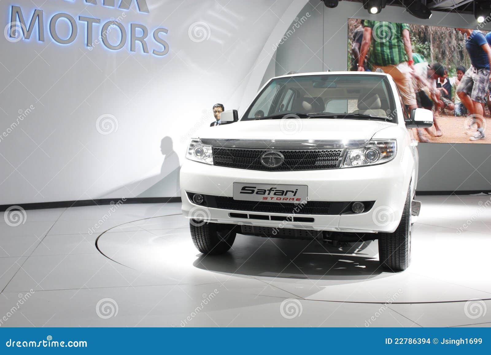 A Tata Safari Storme On Display At Auto Expo 2012 Editorial Stock