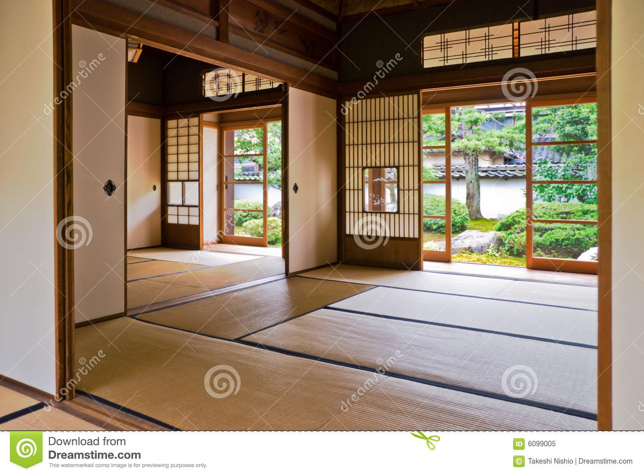 Tatami And Shoji The Old Japanese Room Royalty Free Stock