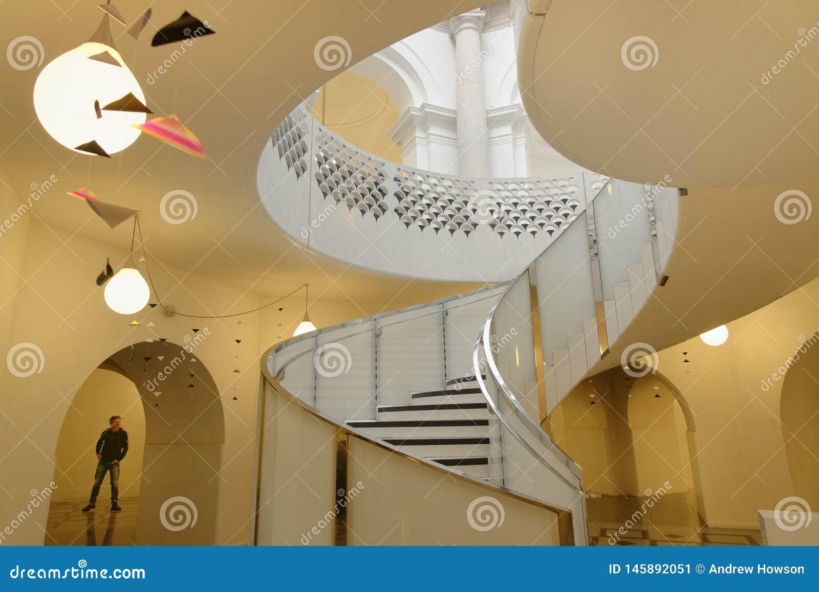 Tate Britain Spiral Staircase alinhadores longitudinais arquitet?nicos Colunas cl?ssicas