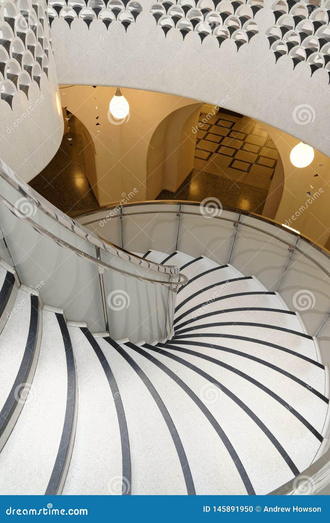 Tate Brytania ?limakowaty schody architektoniczny tupocze klasyczne filar?w
