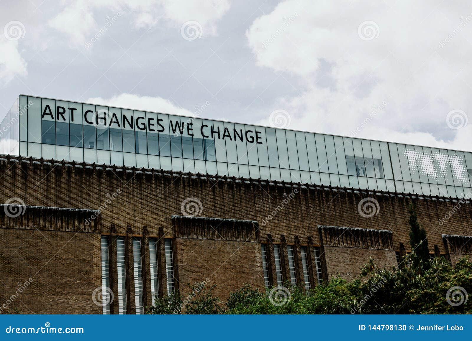 Tate Modern Art Gallery, Londen, Engeland