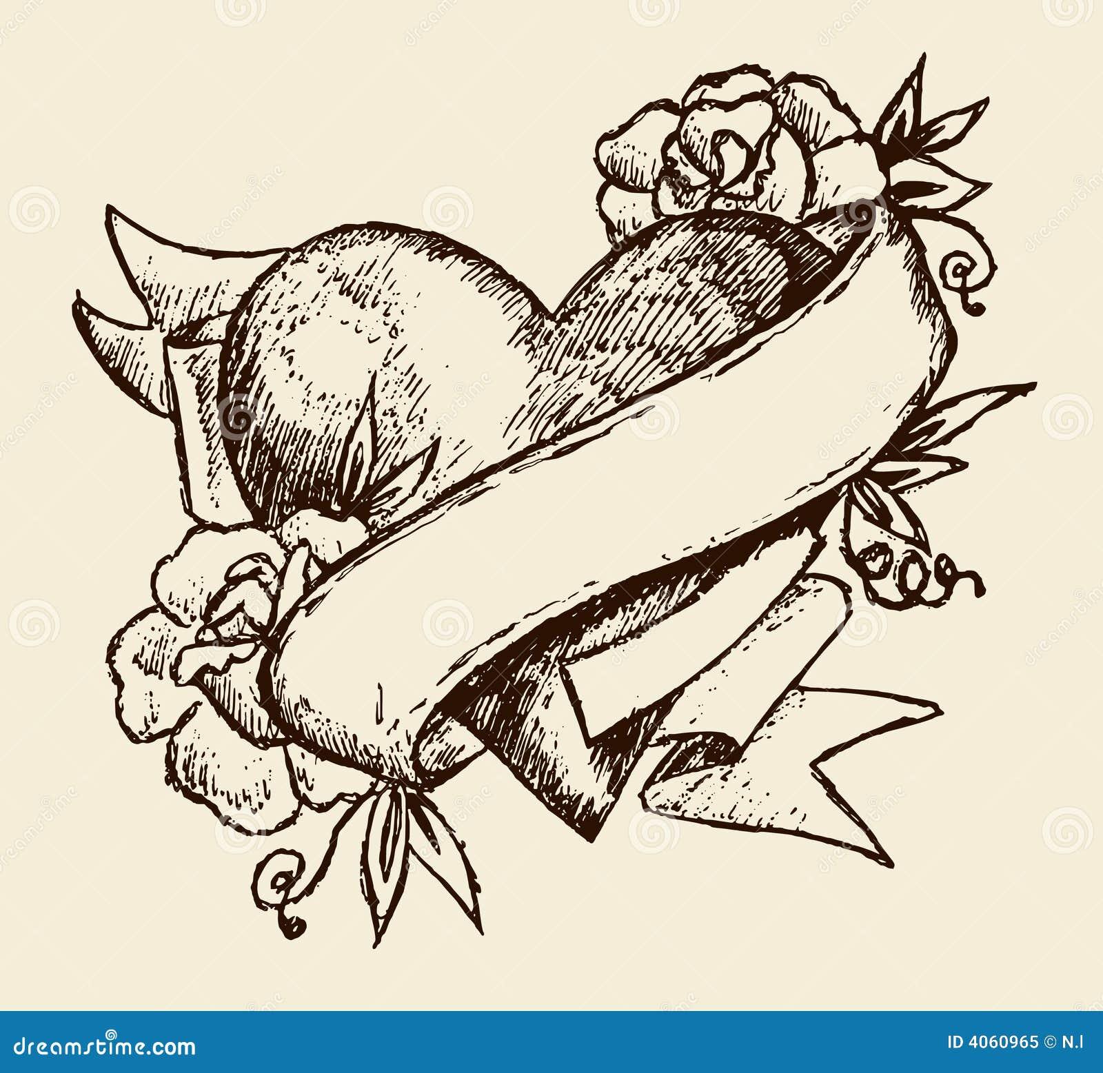 tatouage d 39 amour illustration de vecteur illustration du. Black Bedroom Furniture Sets. Home Design Ideas