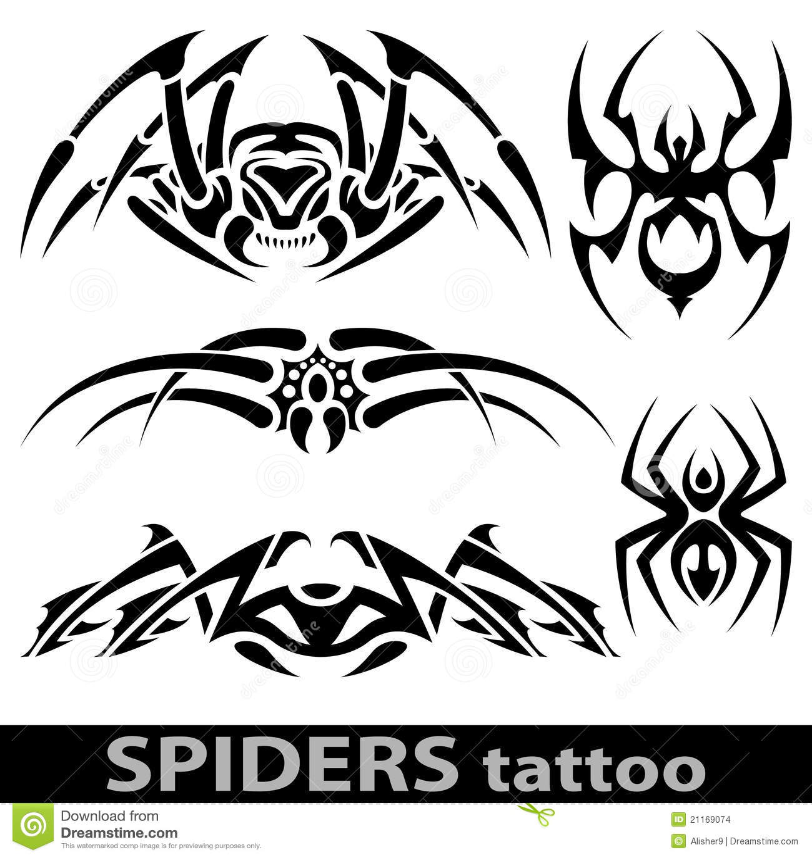tatouage d 39 araign e images stock image 21169074. Black Bedroom Furniture Sets. Home Design Ideas