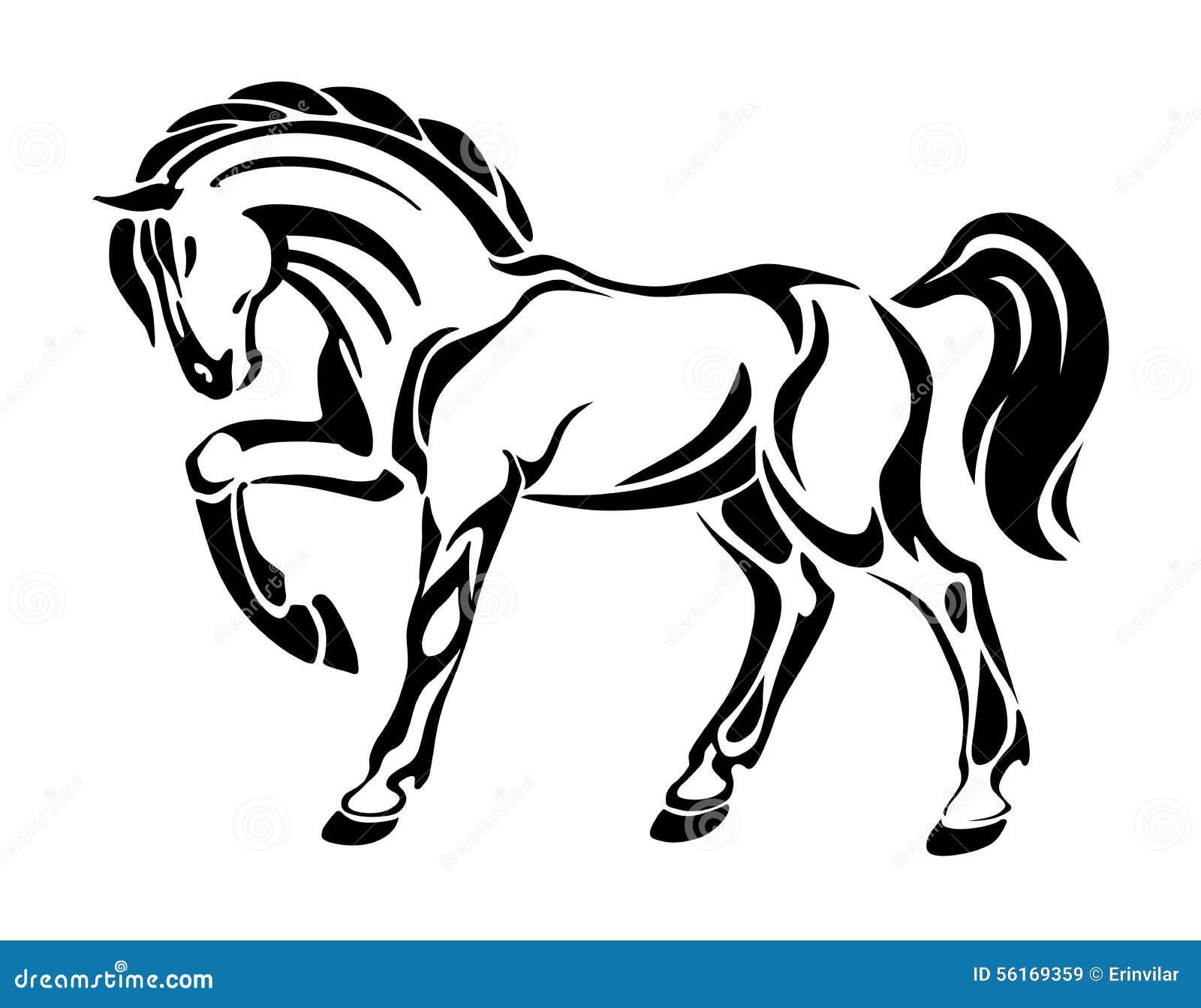 tatouage de cheval dessin graphique stylis de vecteur illustration de vecteur image 56169359. Black Bedroom Furniture Sets. Home Design Ideas