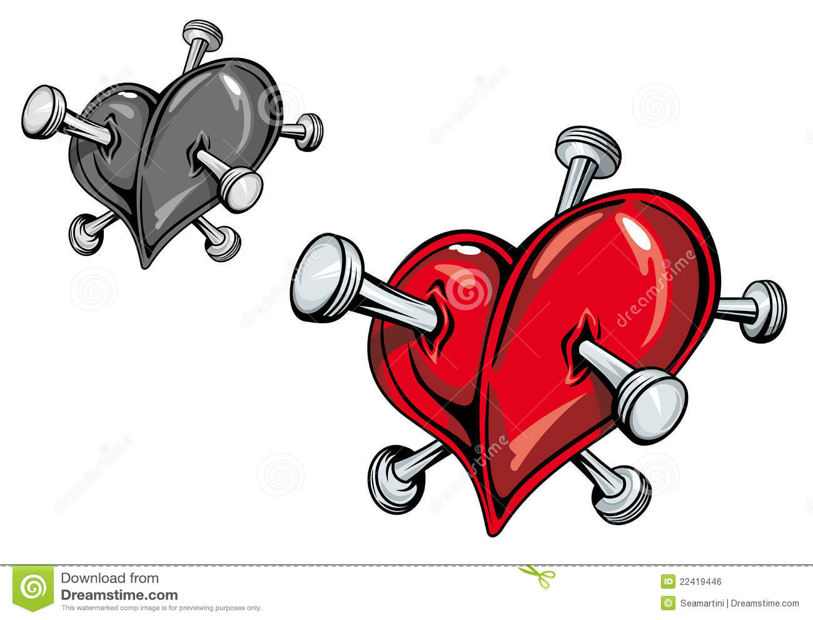 Tatouage de coeur image libre de droits image 22419446 - Image tatouage coeur ...
