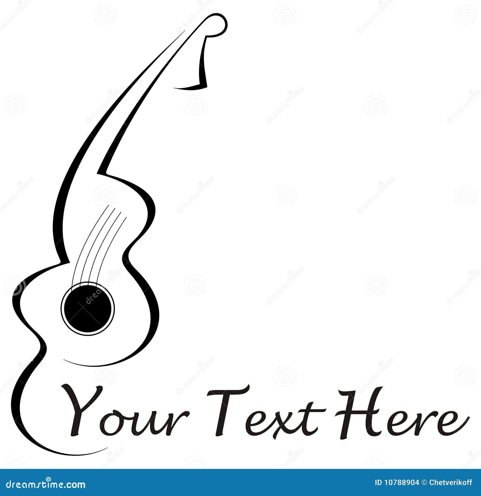Tatouage De Guitare Illustration De Vecteur Illustration Du