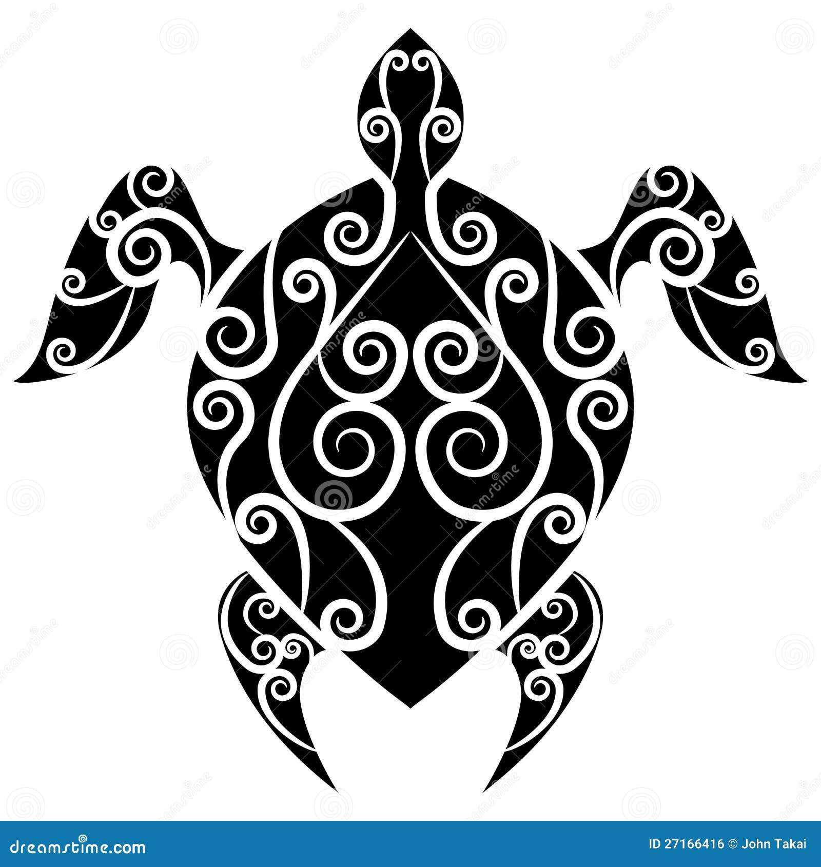 tatouage de remous de tortue illustration de vecteur illustration du clip noir 27166416. Black Bedroom Furniture Sets. Home Design Ideas