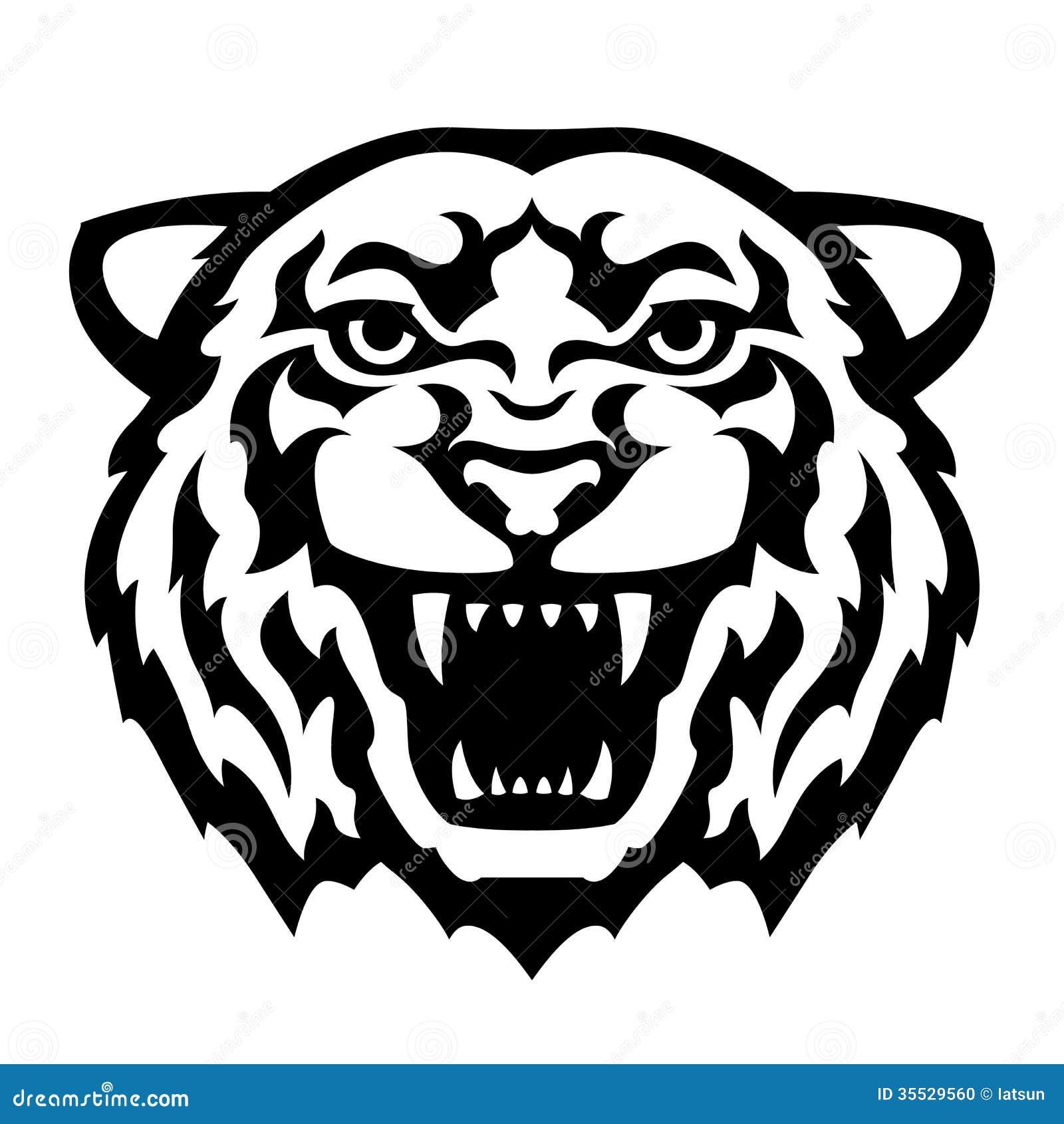 tatouage de t te de tigre illustration de vecteur illustration du dents 35529560. Black Bedroom Furniture Sets. Home Design Ideas