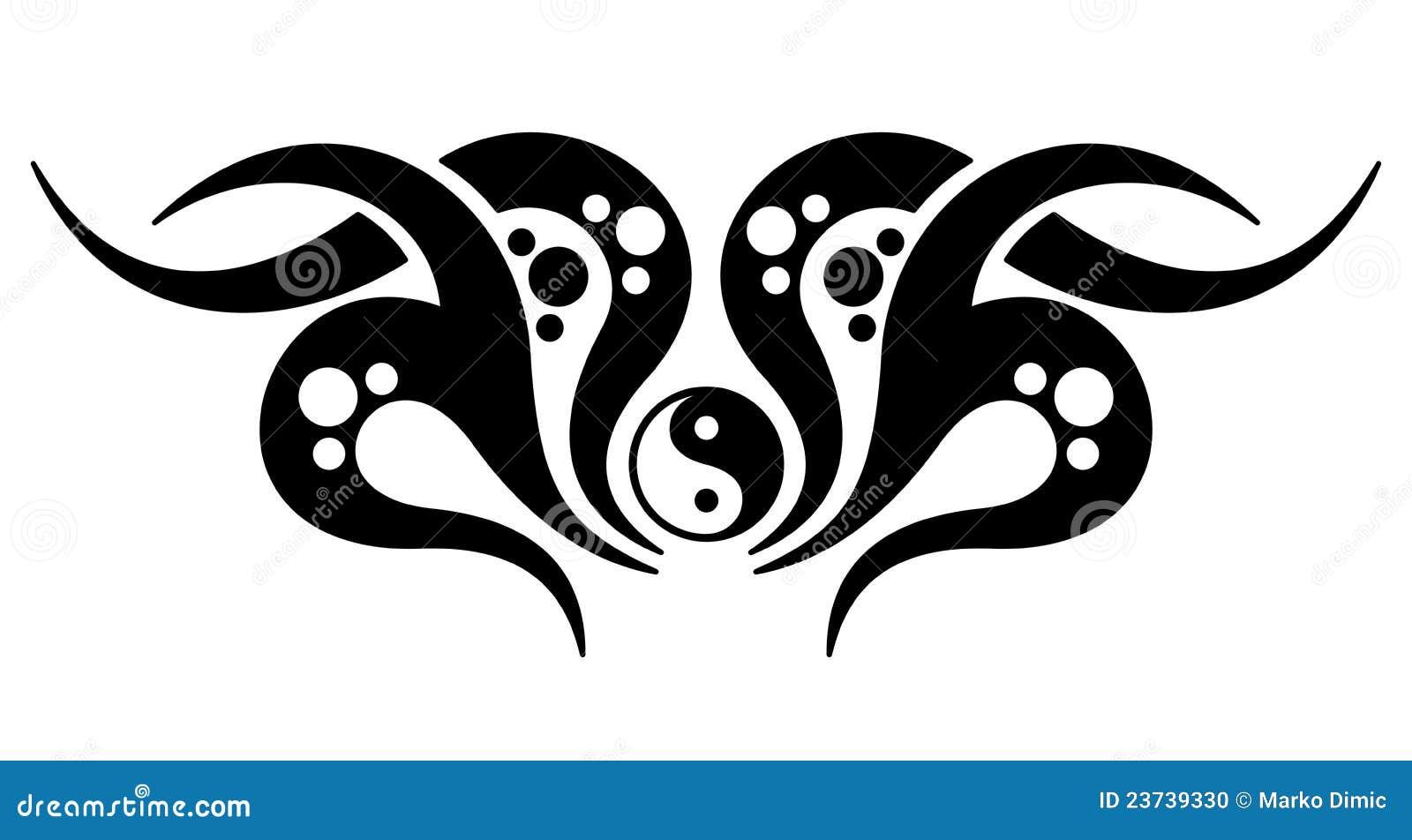 tatouage de yin yang illustration de vecteur illustration du noir 23739330. Black Bedroom Furniture Sets. Home Design Ideas