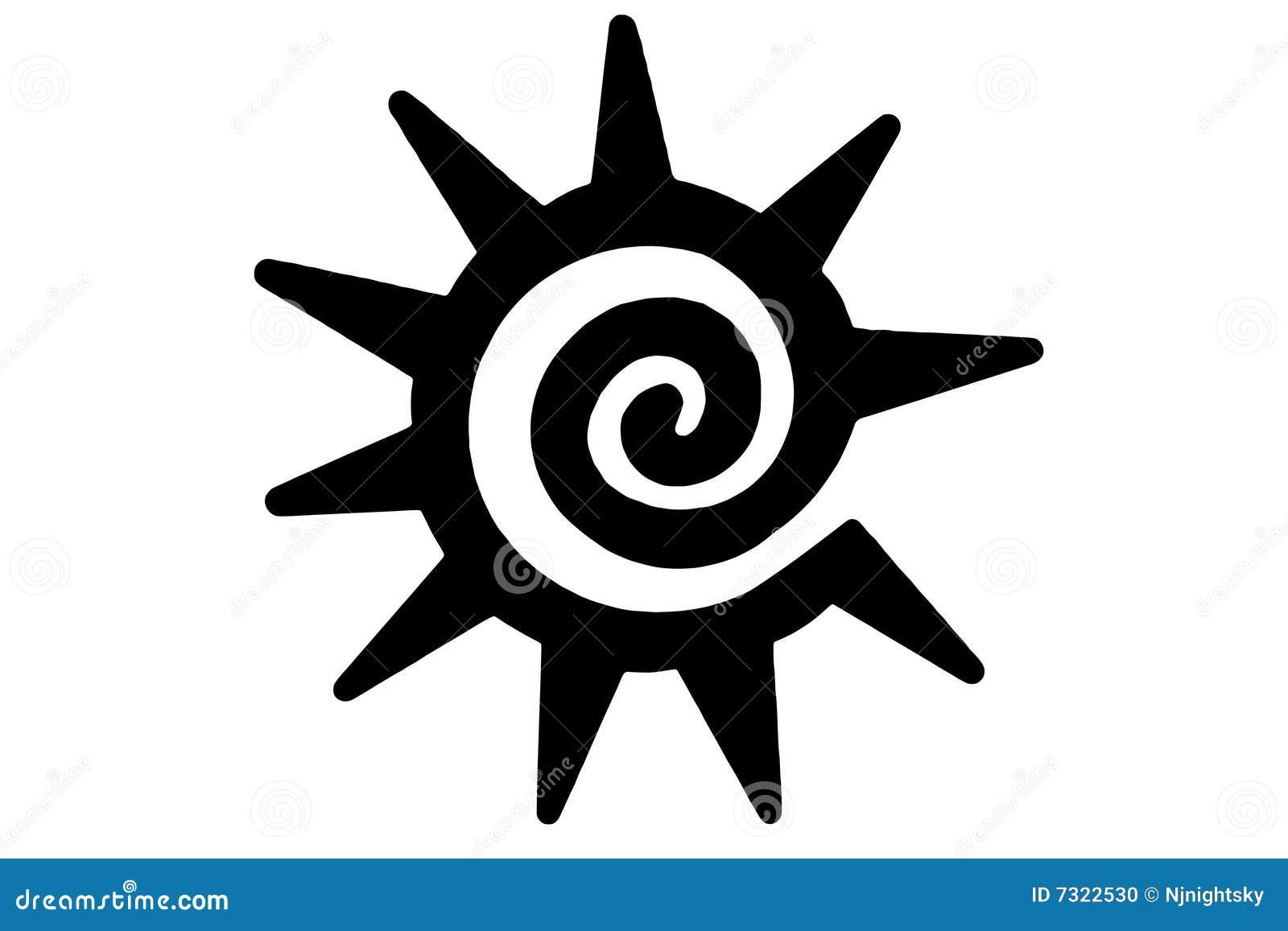 Tatouage du soleil tribal illustration de vecteur image du ramassage 7322530 - Tatouage soleil tribal ...
