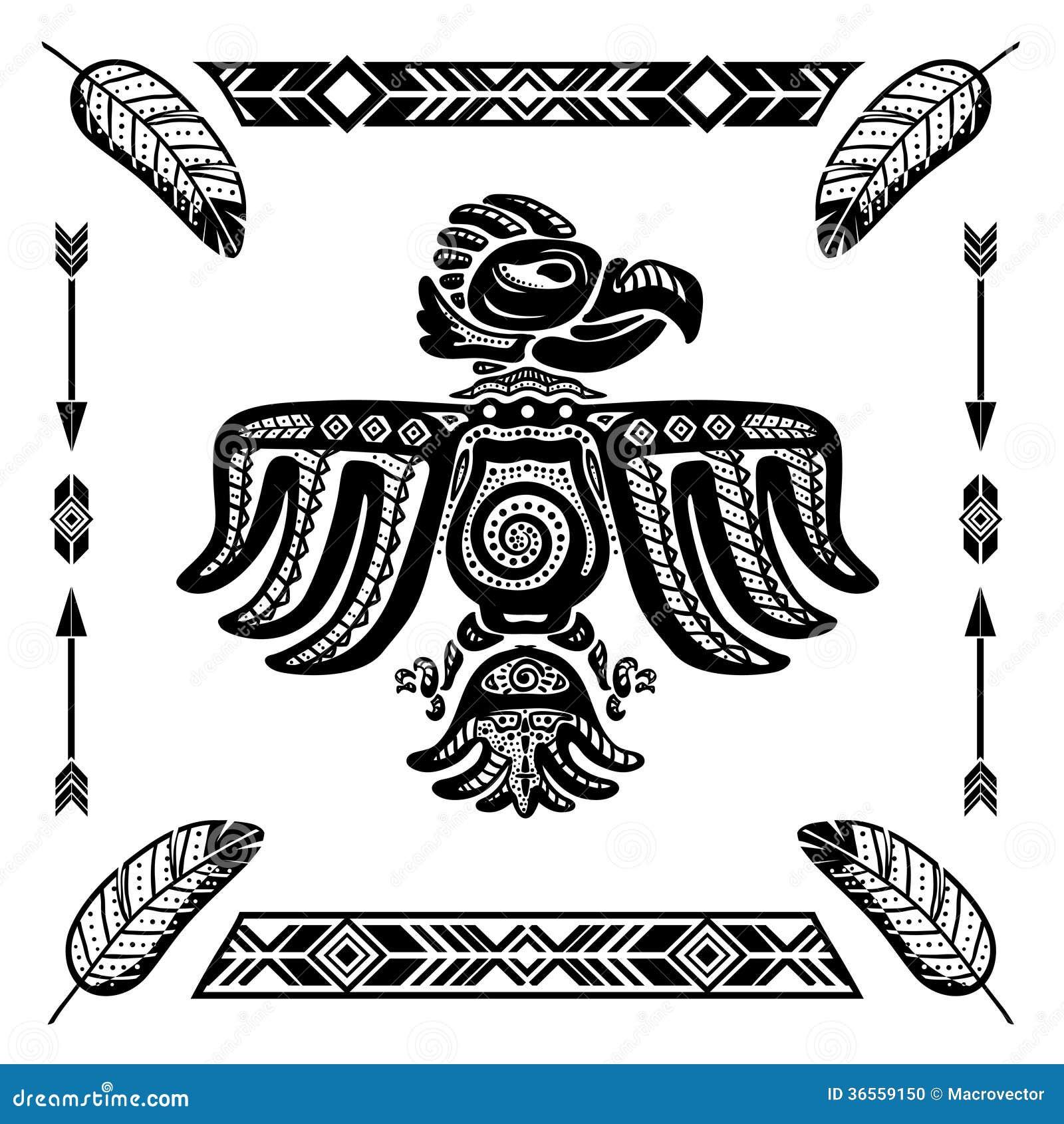 Tatouage Indien Tribal D Aigle Illustration De Vecteur