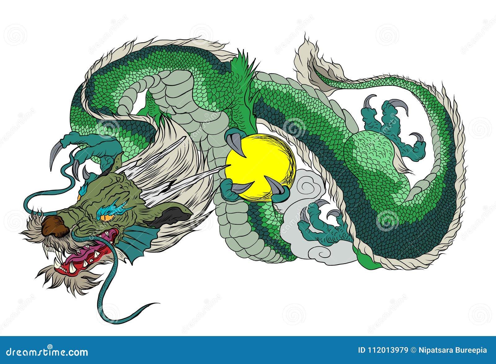 Tatouage Japonais De Dragon Tatouage Japonais De Conception De