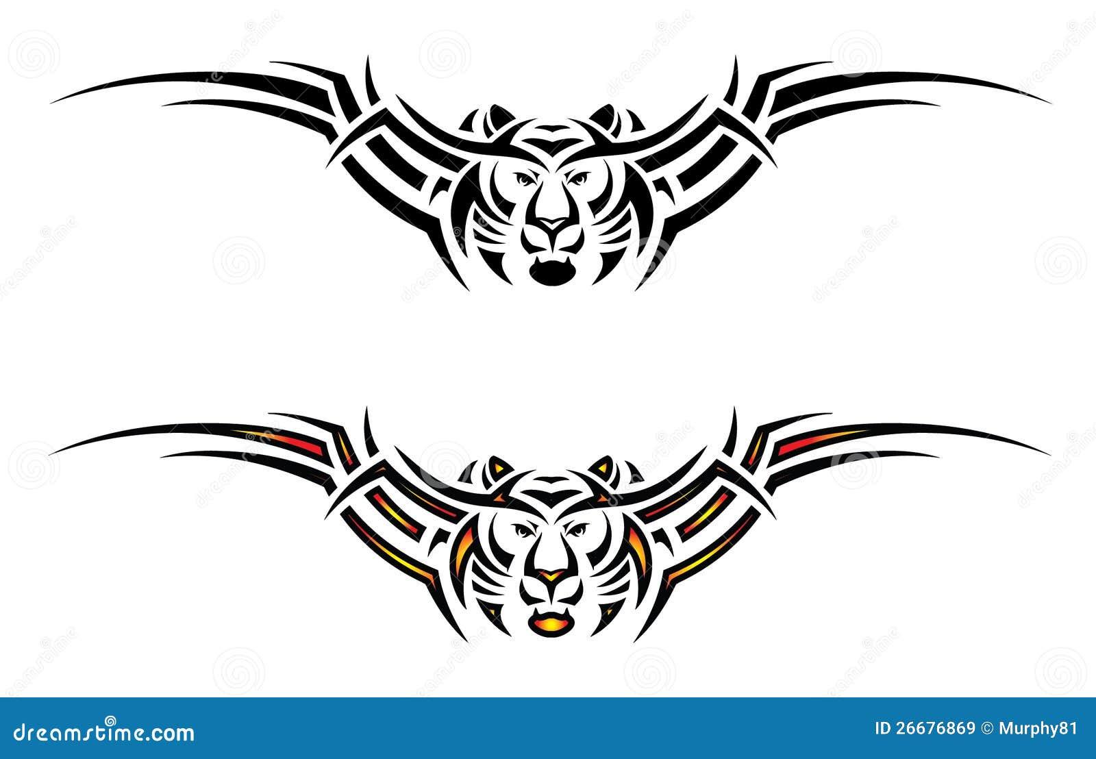 Tatouage tribal d 39 isolement de tigre images libres de droits image 26676869 - Image de tatouage ...