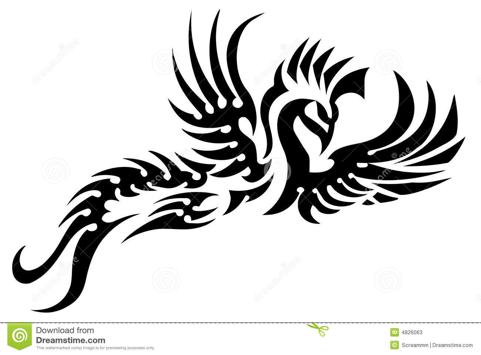 tatouage tribal d 39 oiseau illustration de vecteur illustration du dessin 4826063. Black Bedroom Furniture Sets. Home Design Ideas