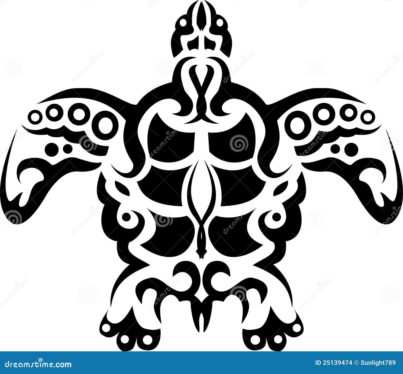 tatouage tribal de tortue images stock image 25139474. Black Bedroom Furniture Sets. Home Design Ideas