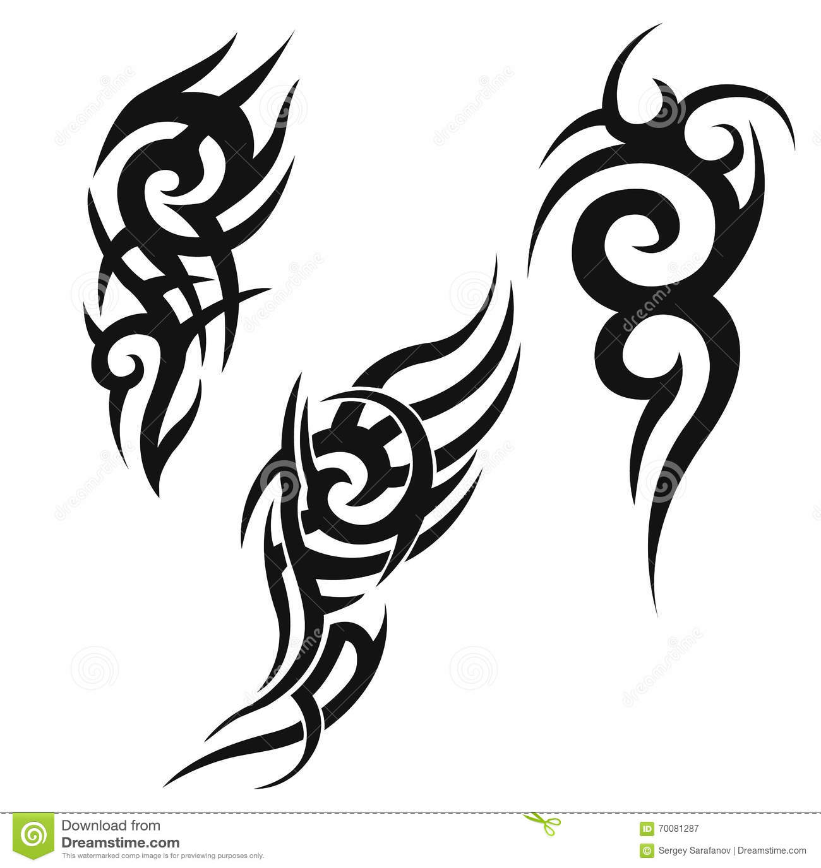 Tatouage Tribal Noir Illustration De Vecteur Illustration Du Noir