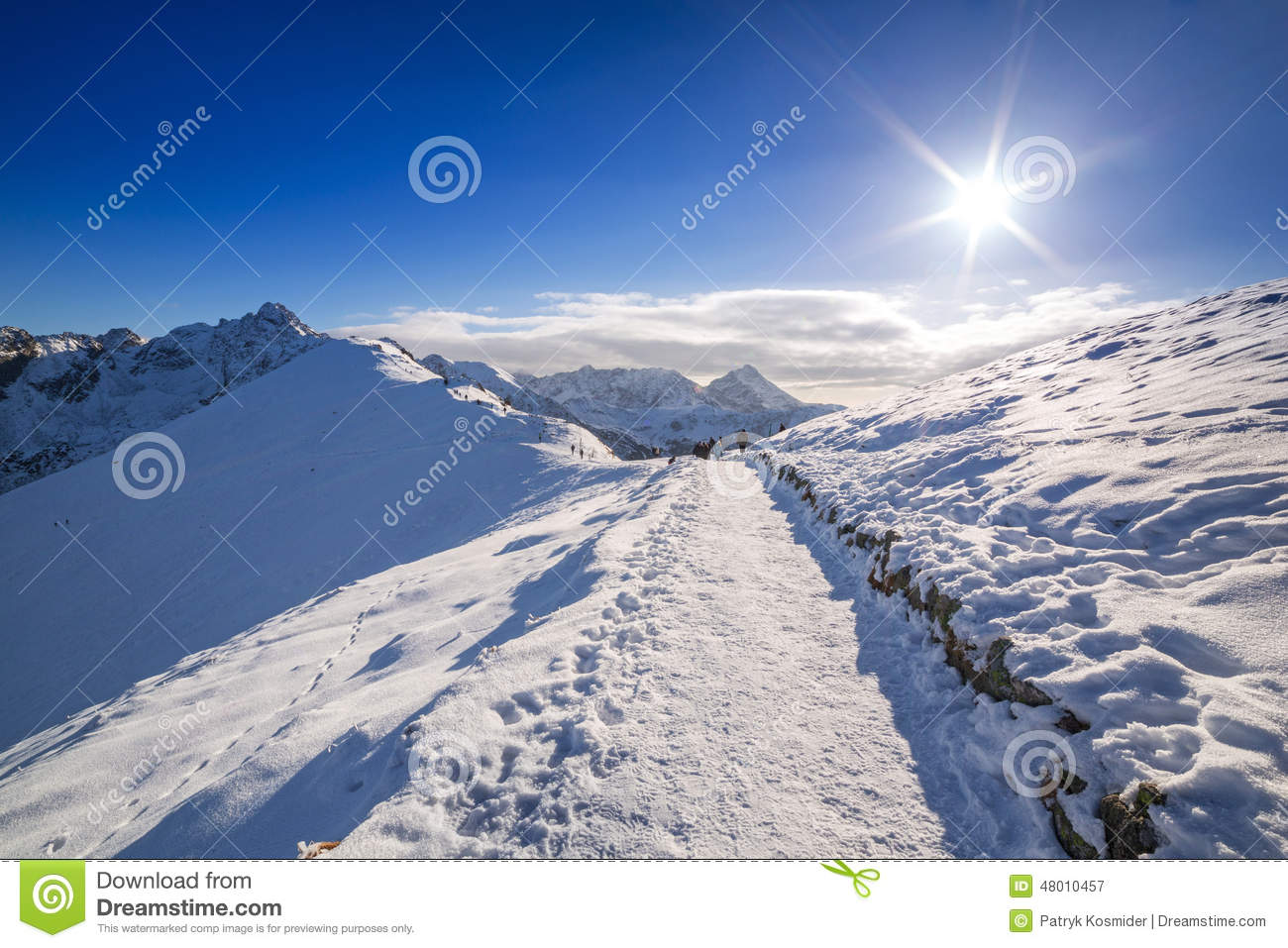 tatra mountains in snowy winter time stock photo image. Black Bedroom Furniture Sets. Home Design Ideas
