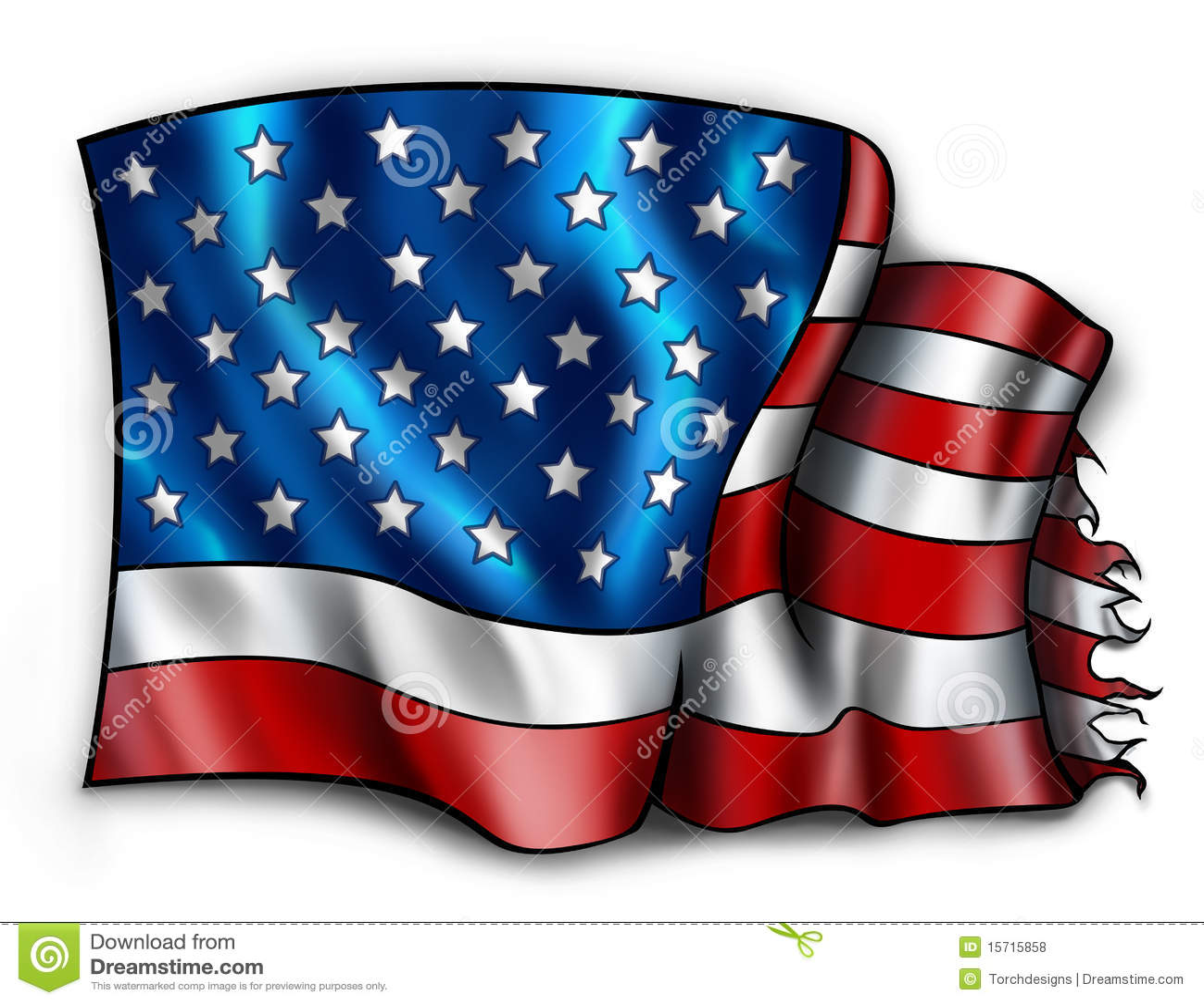 Tattered Amerikanische Flagge Stock Abbildung - Illustration von ...