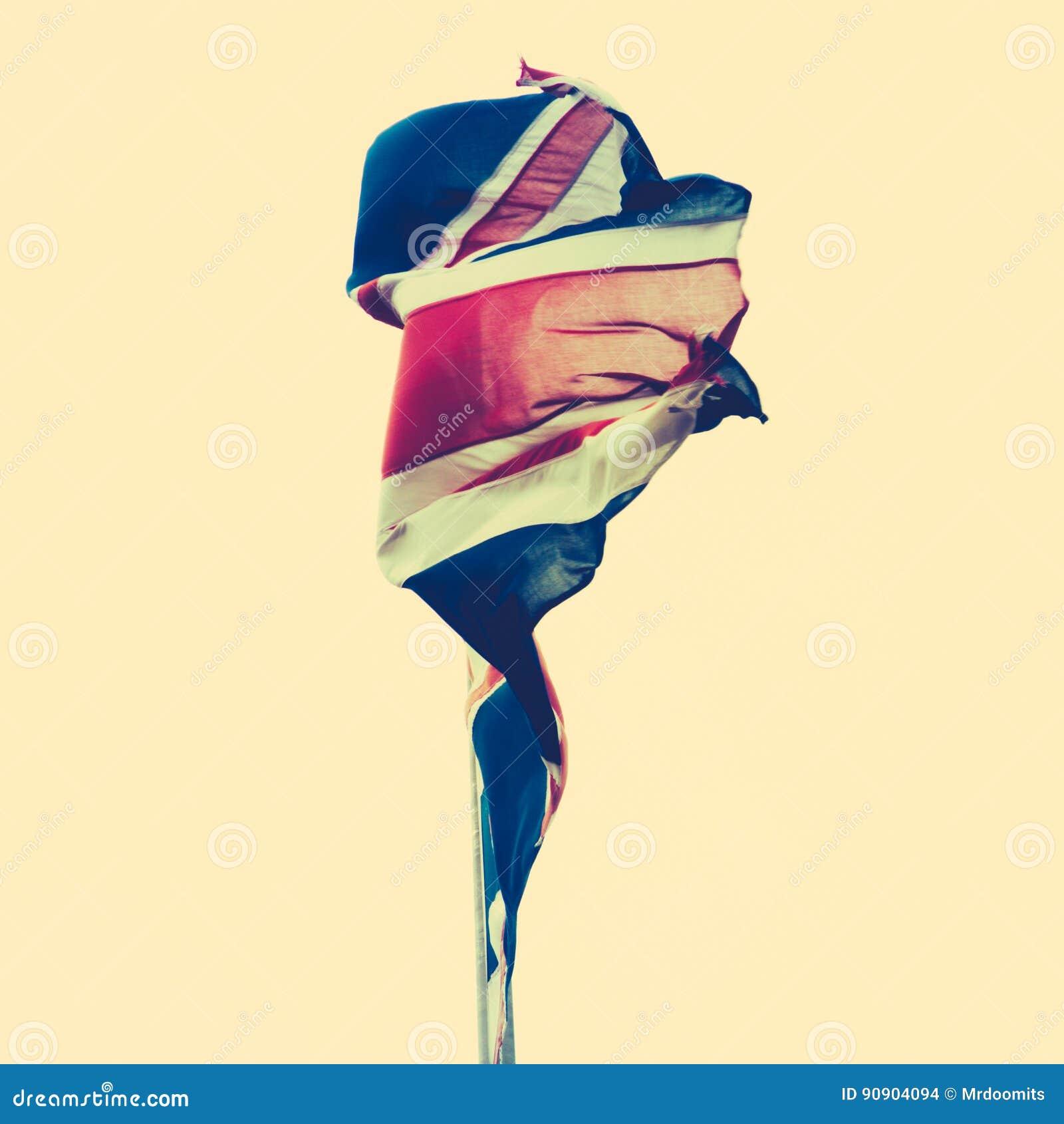 Tattered British Flag stock photo. Image of kingdom, nationalism ...