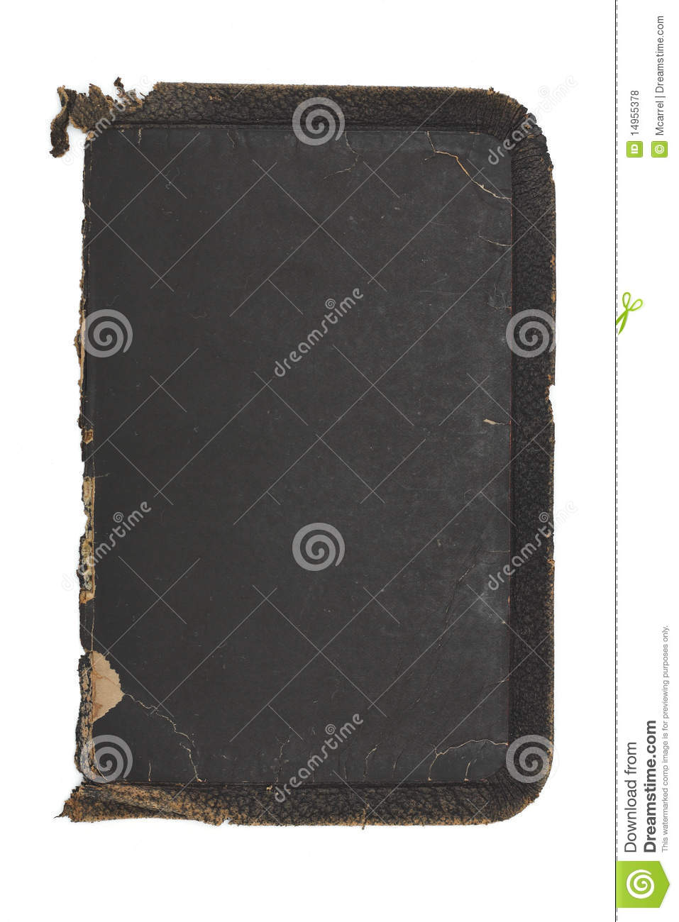 Old Book Inside Cover : Tattered old rough leather book cover inside royalty free