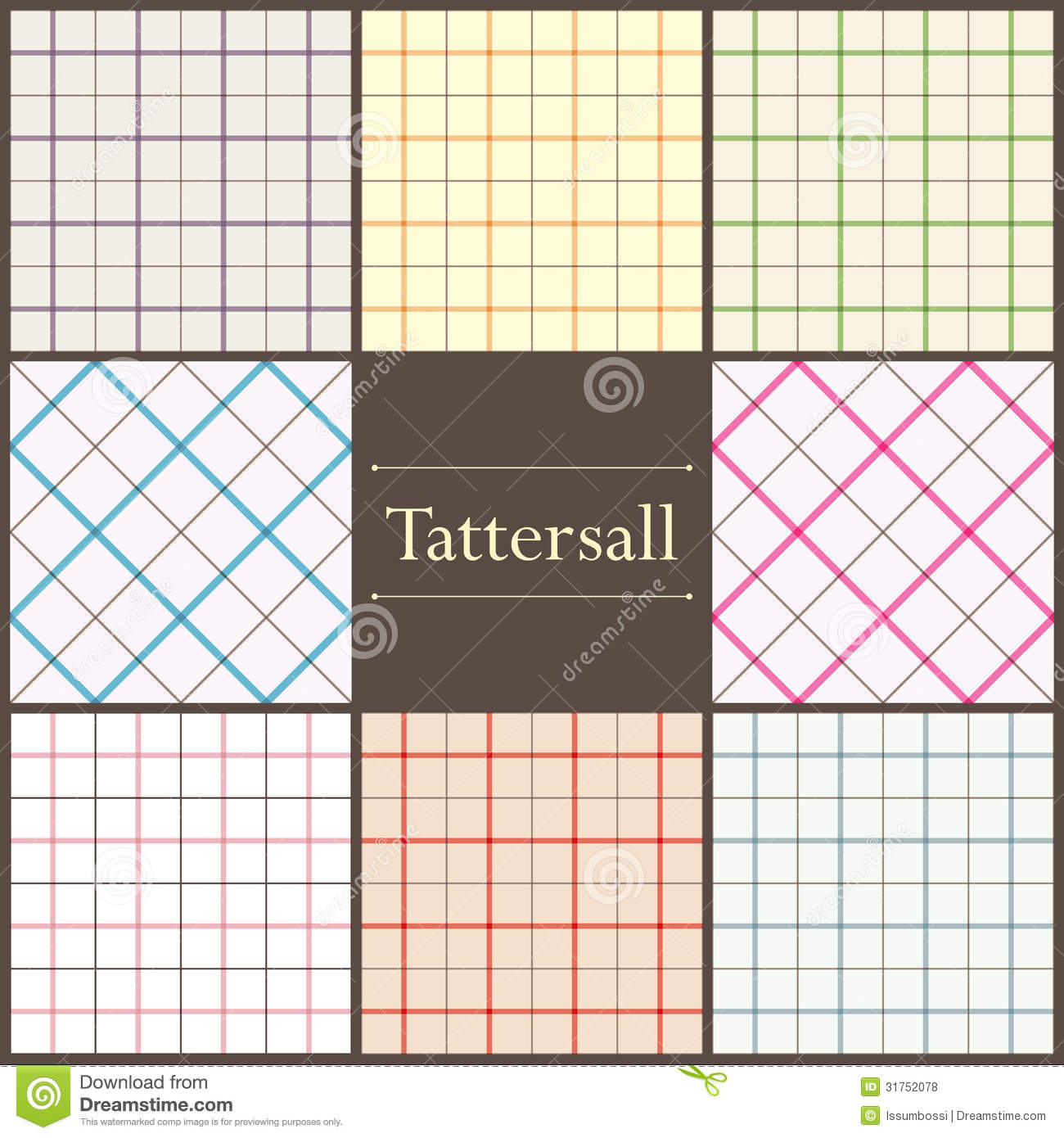 Tattersall Plaid Pattern Royalty Free Stock Photos - Image