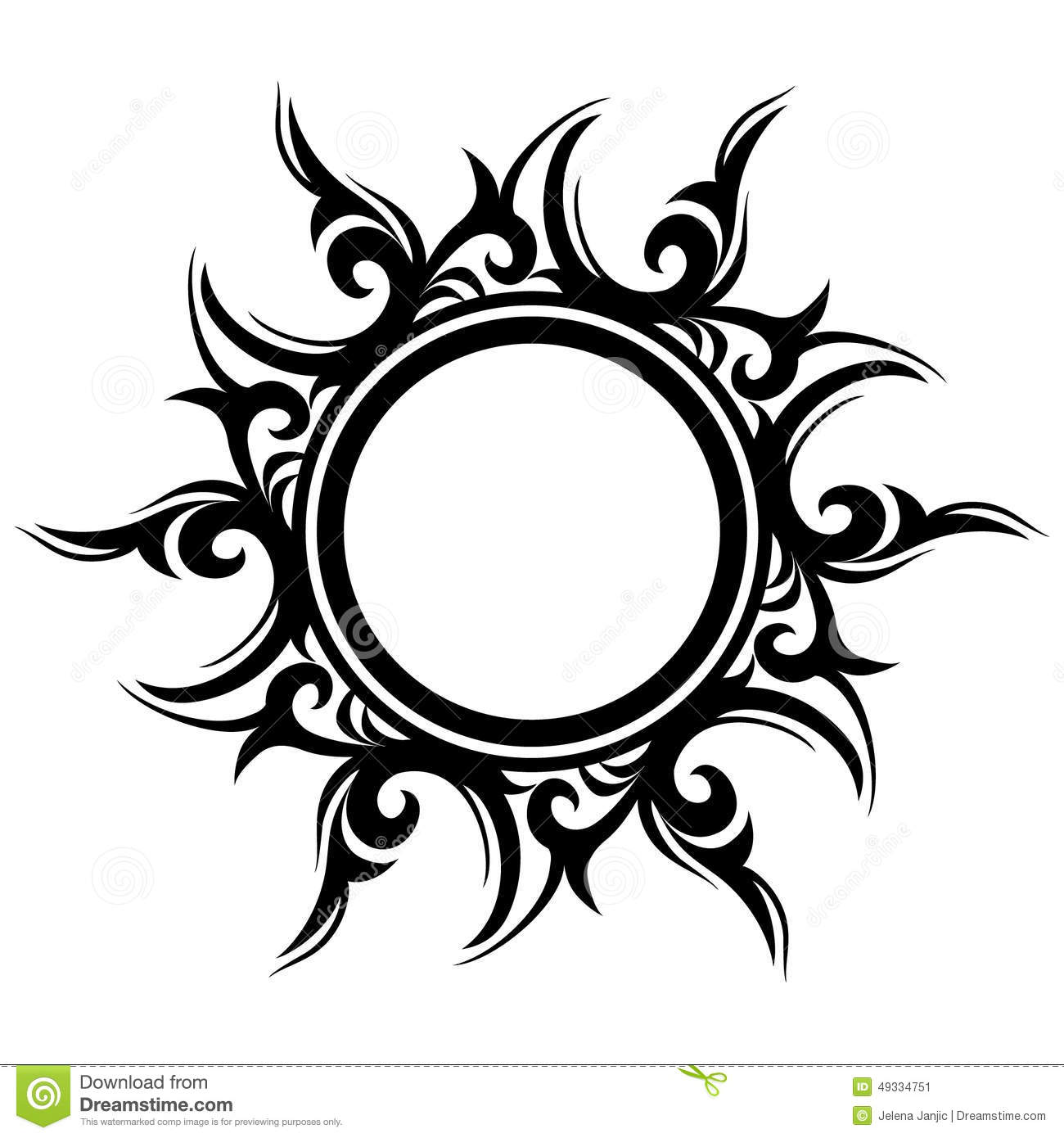 Tattoo Designs Sun: Tattoo, Abstract Sun, Flower Stock Vector
