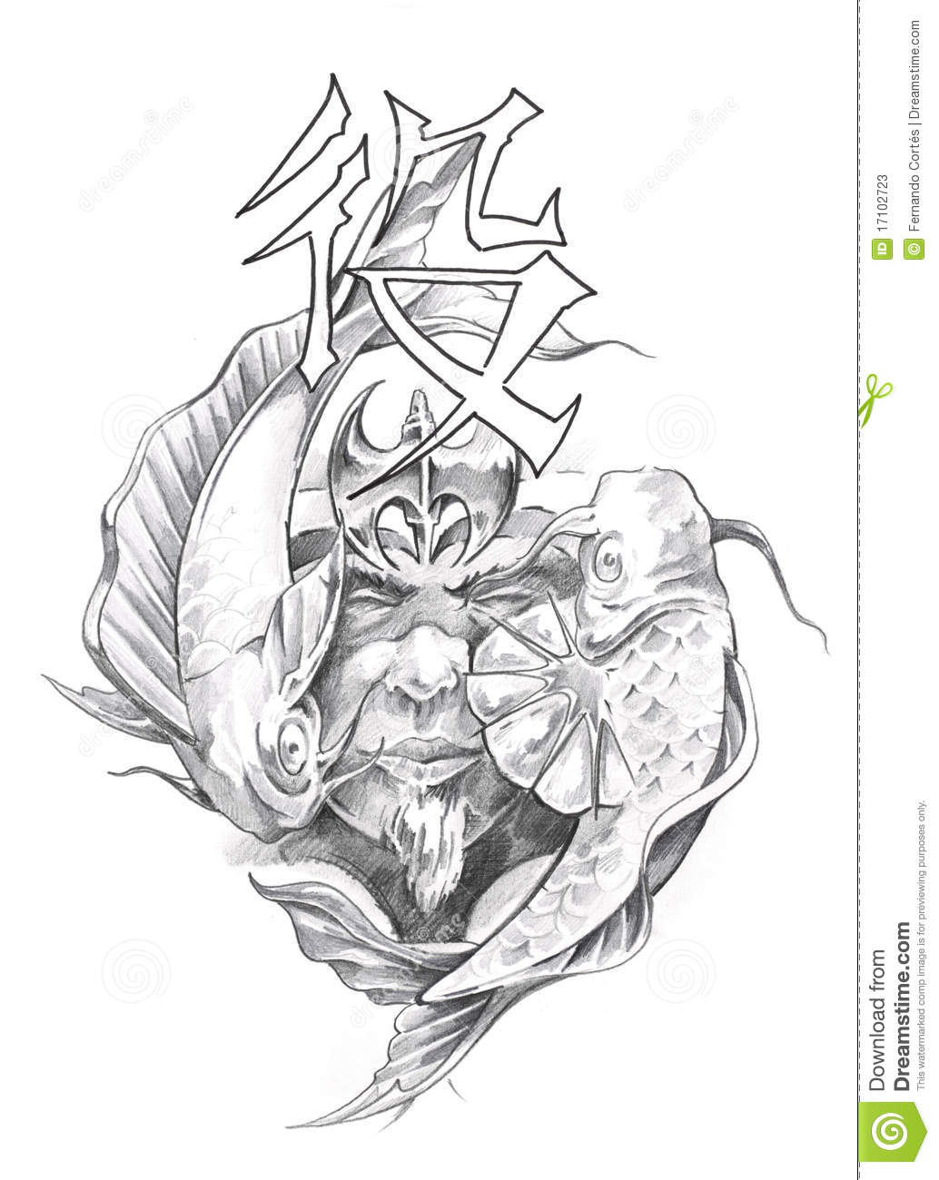 Https Www Dreamstime Com Stock Photos Tattoo Art Sketch Japanese Warrior Image17102723