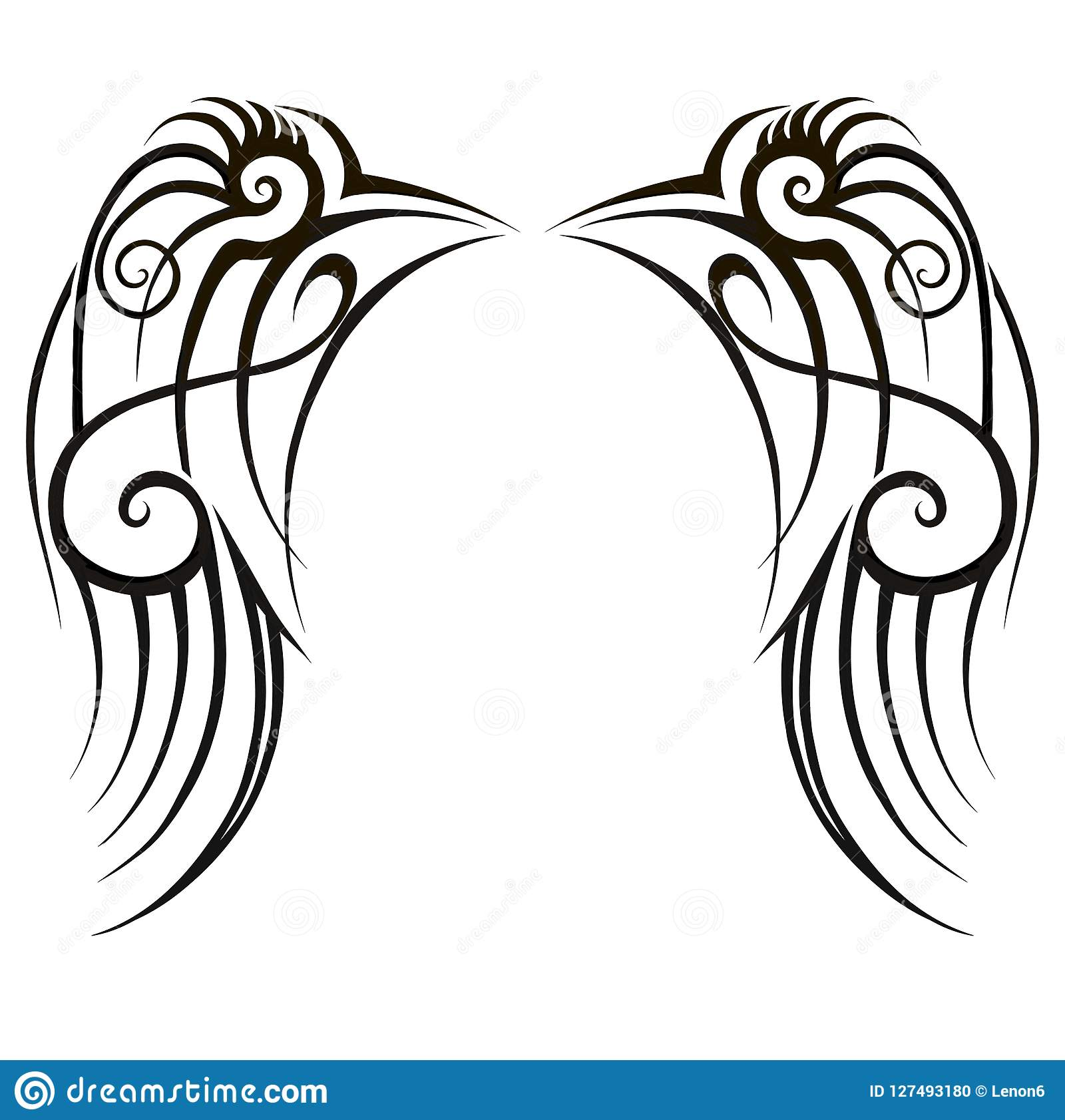 Wings Tattoo Art Tribal Designs Abstract Pattern Logo
