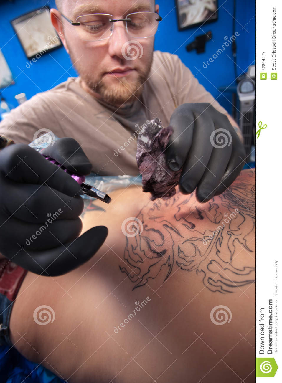 Tattoo Artist At Work Royalty Free Stock Photography ...