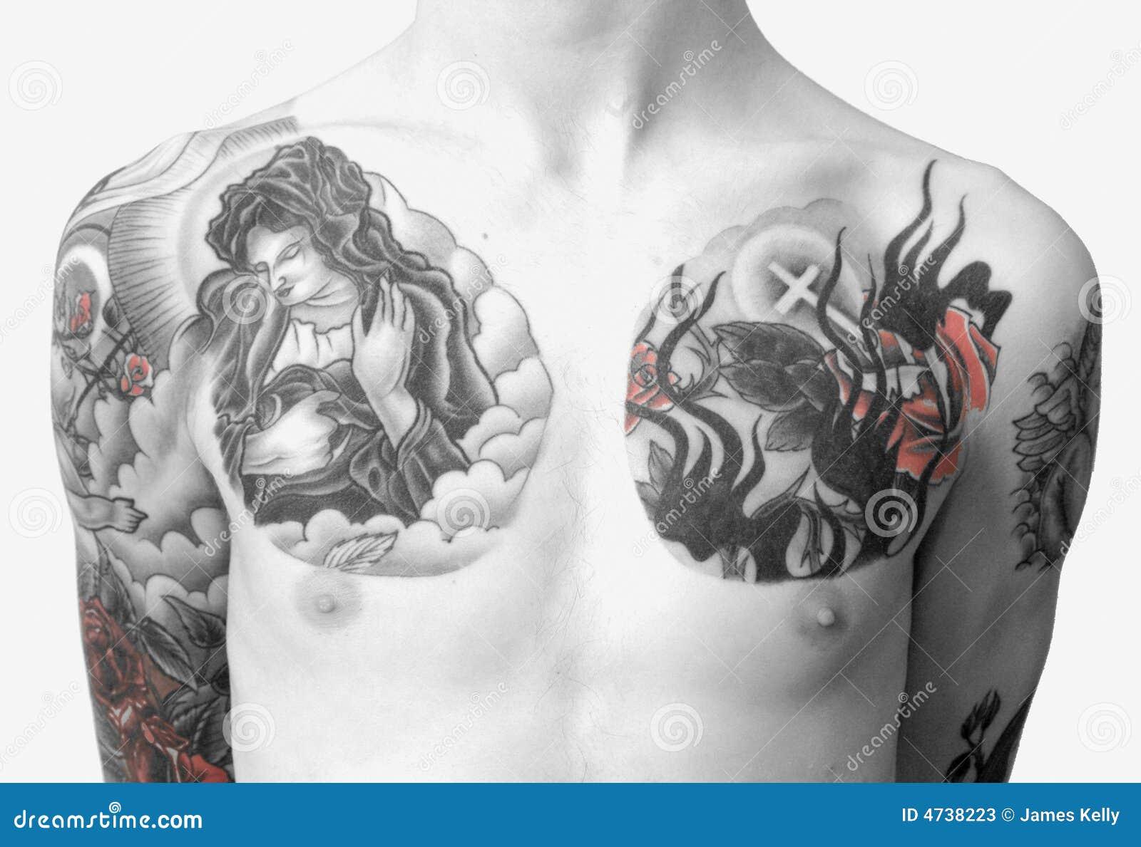 Tattoo Chest Stock Photos - Image 4738223-6662