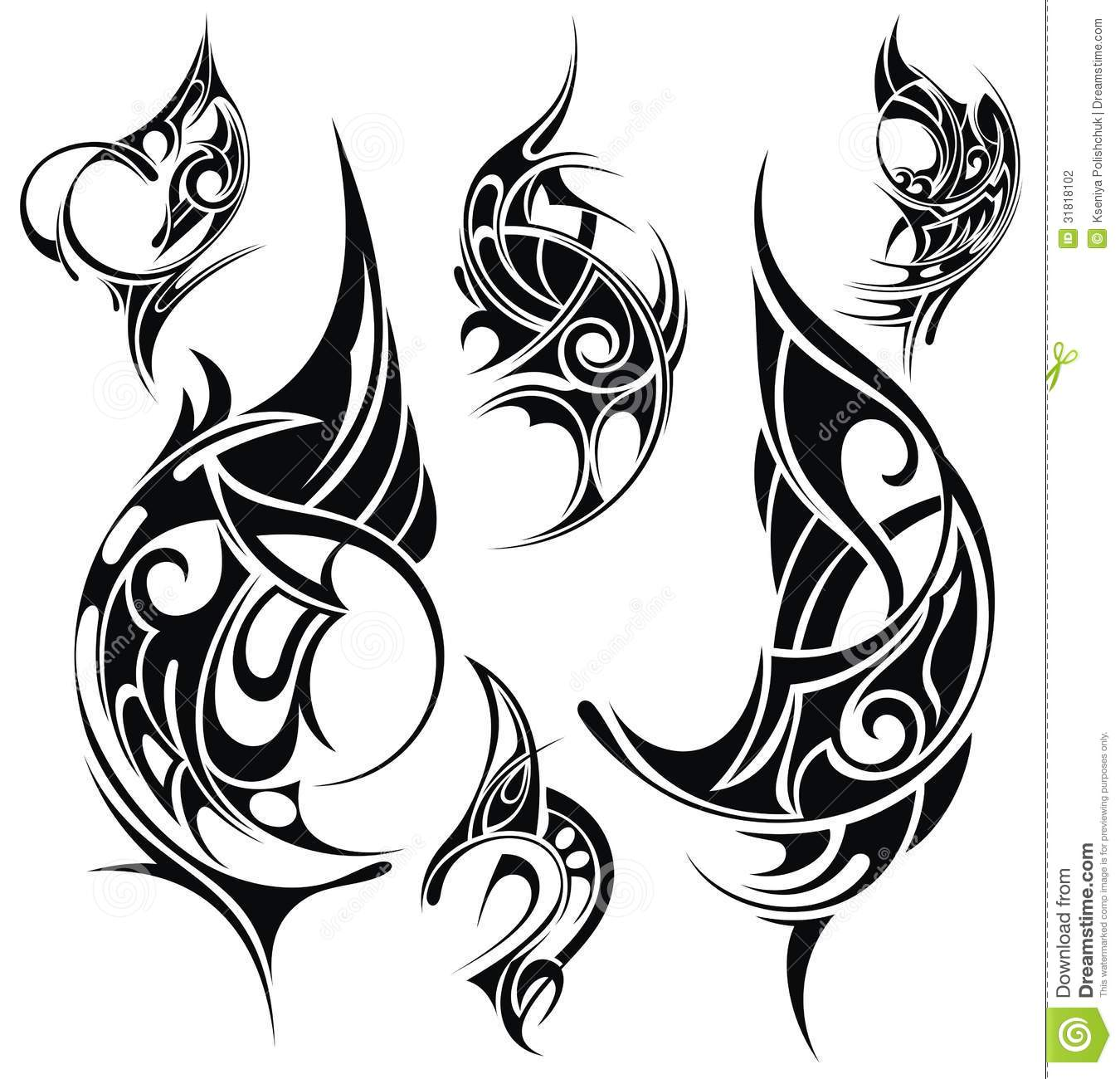 Tattoo Design Elements Stock Vector Illustration Of