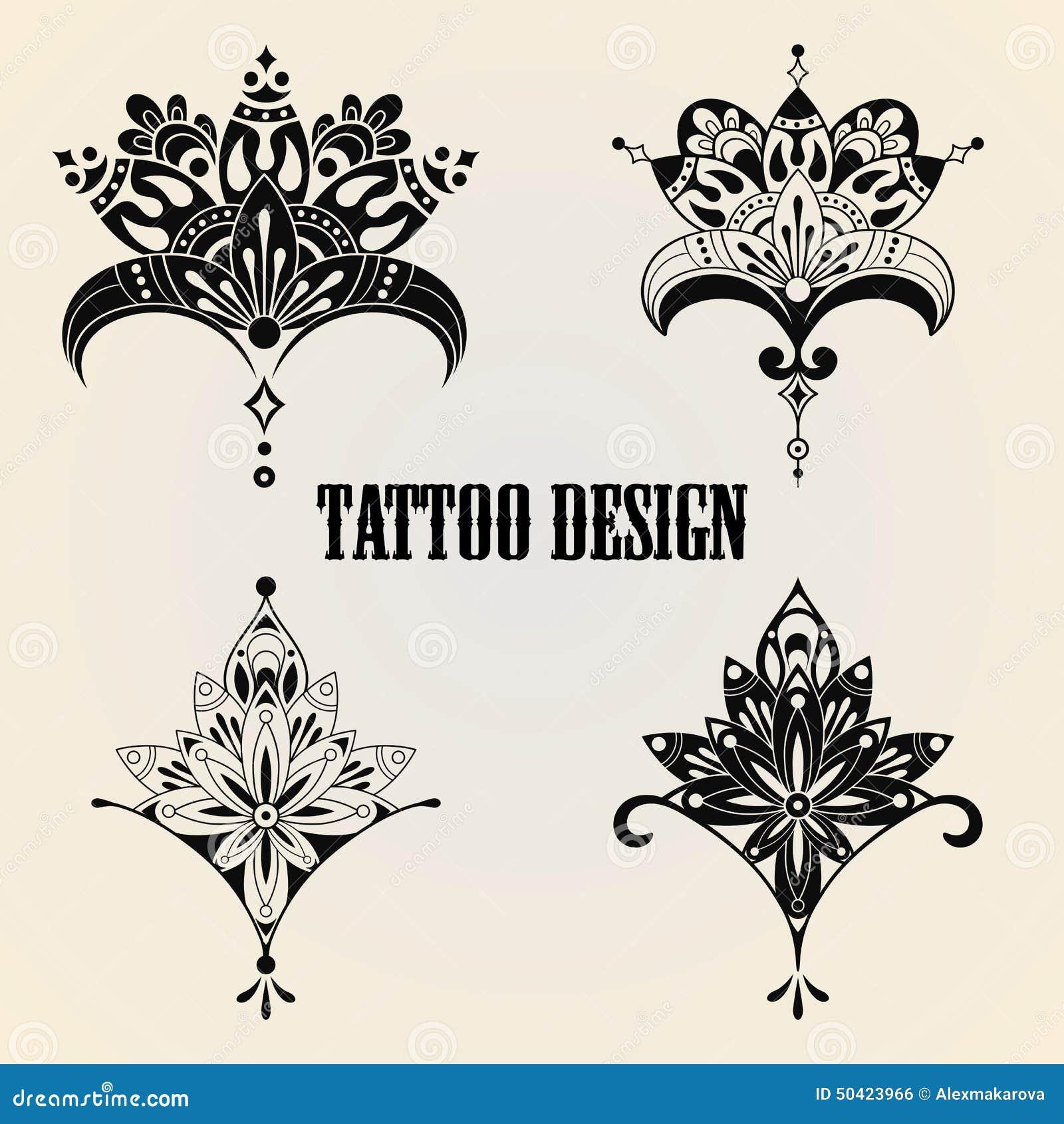 tattoo design elements stock vector image 50423966. Black Bedroom Furniture Sets. Home Design Ideas