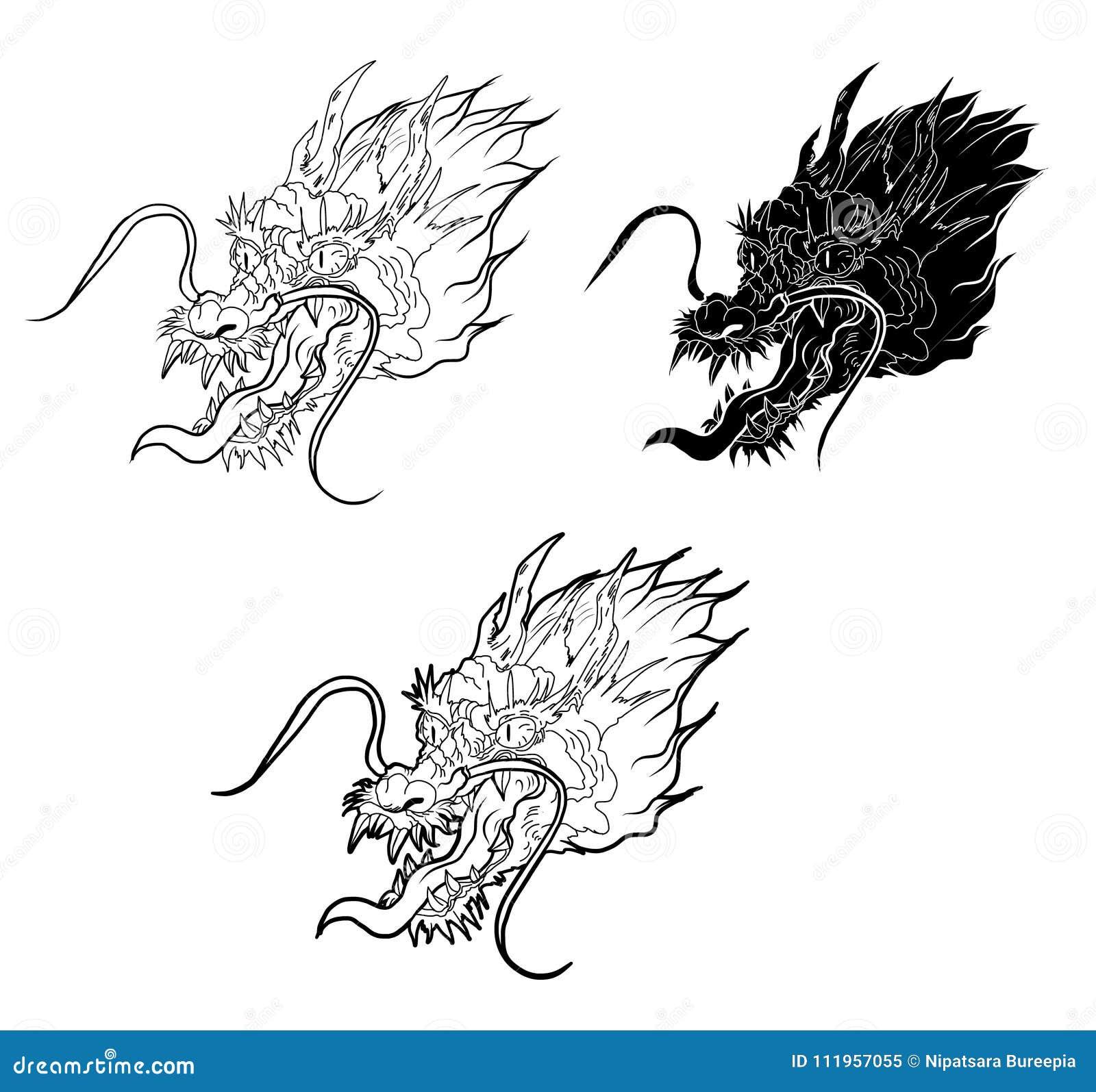 Tattoo Design Koi Dragon With Cherry Blossom And Wave In Circlekoi