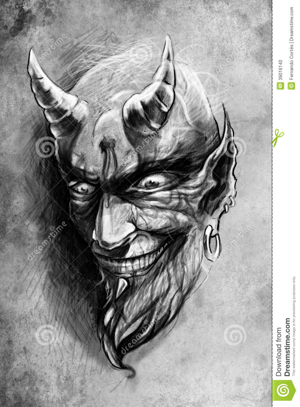 5462031a5ae98 Tattoo Devil, Illustration, Handmade Draw Stock Illustration ...