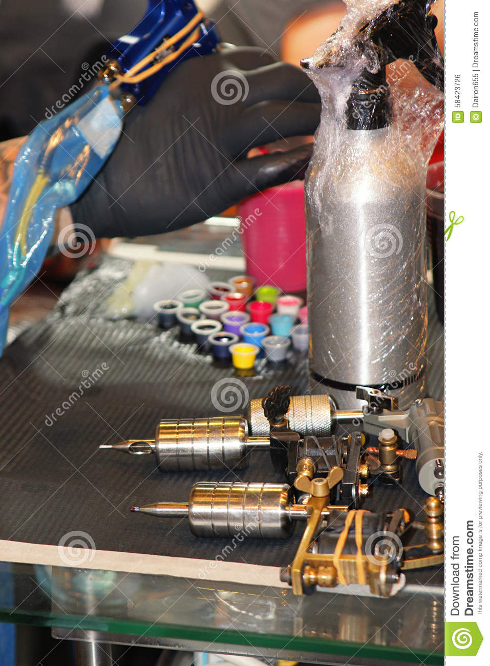 Tattoo equipment royalty free stock image cartoondealer for Where to get tattoo supplies