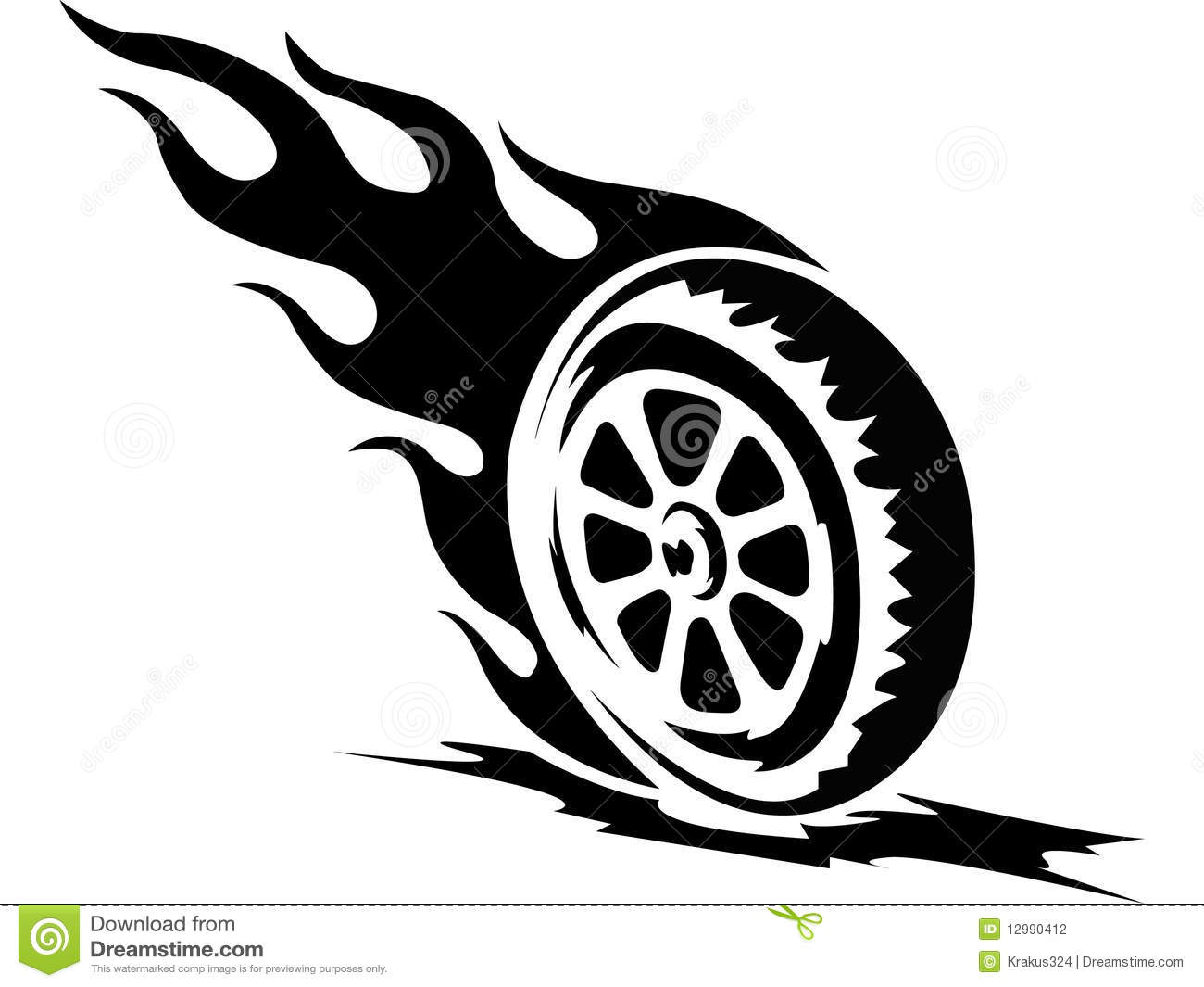 Tattoo Fire Wheel Stock Photography - Image: 12990412