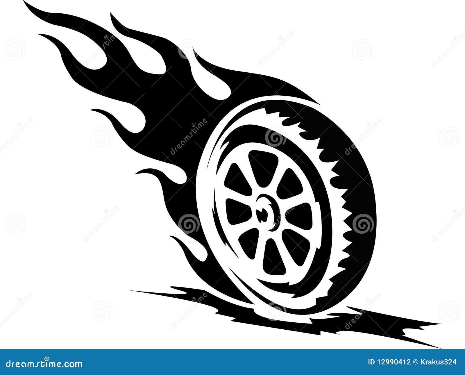 Tattoo Fire Wheel Stock Photography - Image: 12990412