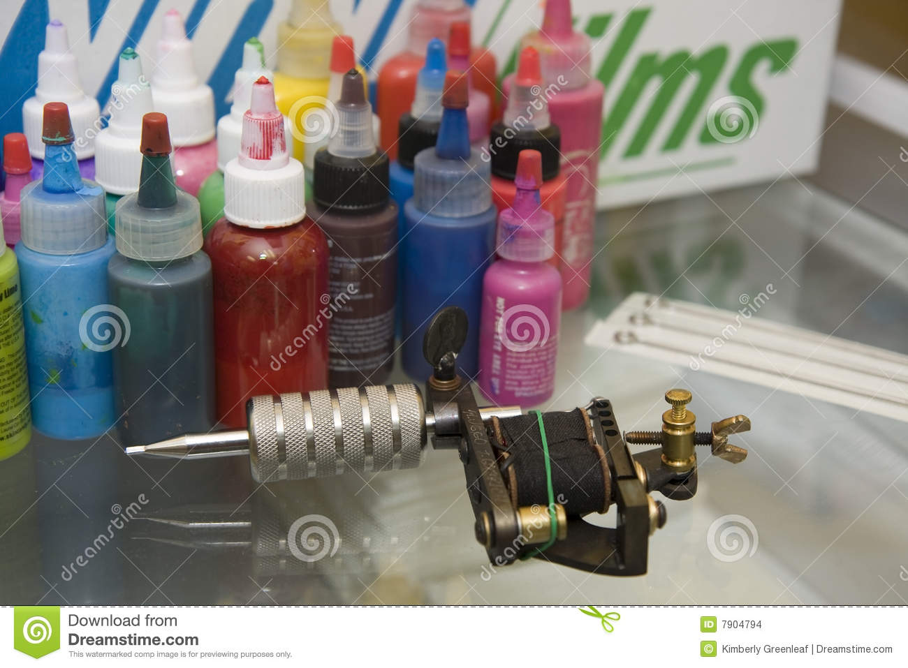 Tattoo Gun With Needles And Ink Stock Photo - Image of studio ...