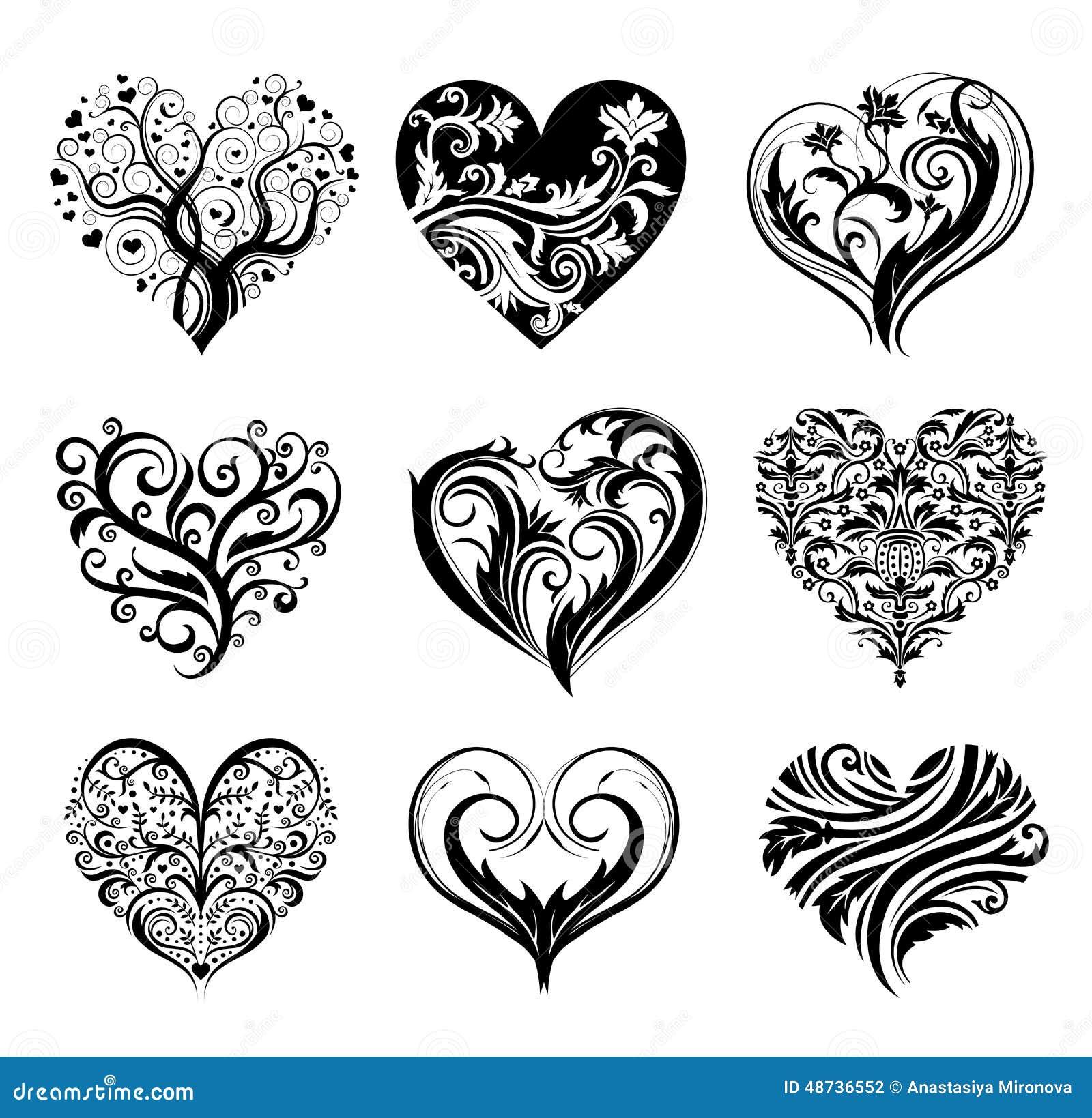 Tattoo hearts stock vector image 48736552