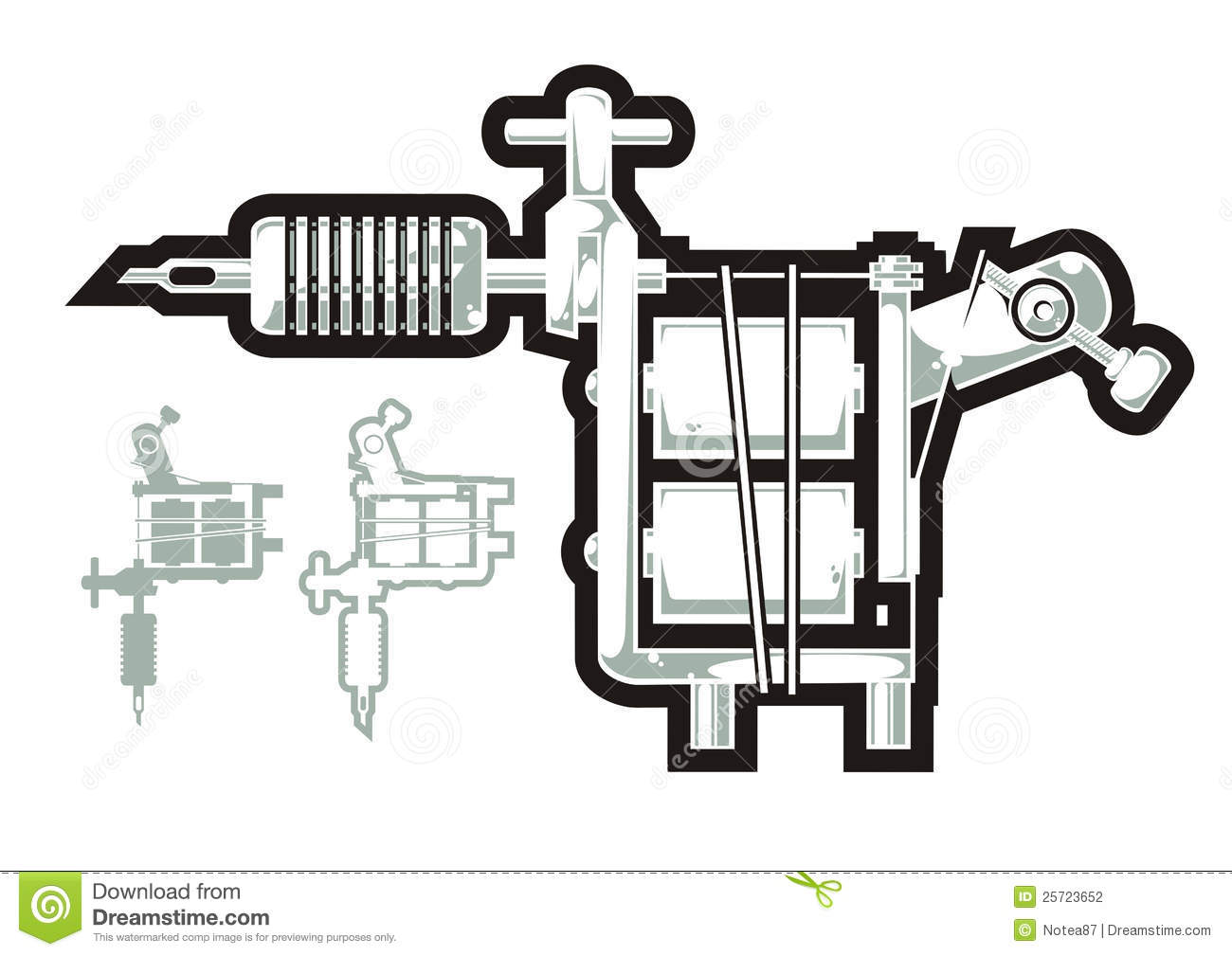 Tattoo Machine Stock Vector Illustration Of Steel 25723652 Tattoomachinediagramjpg