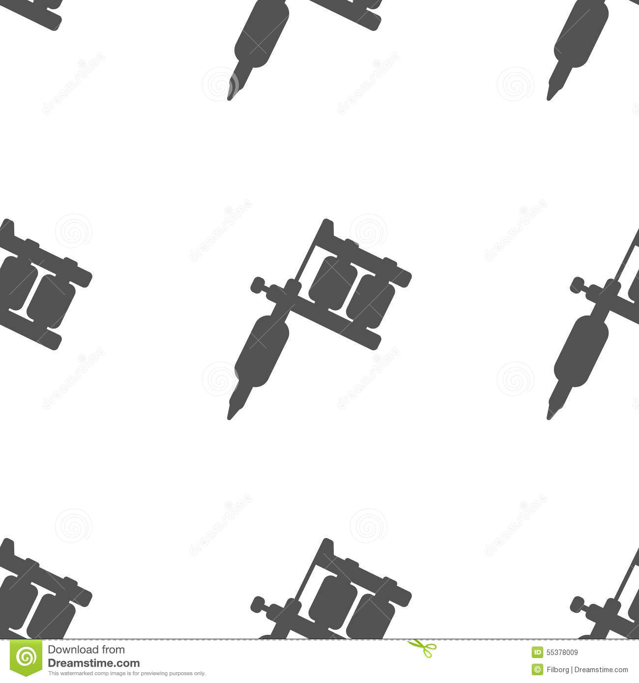 Tattoo Machine Pattern Royalty Free Vector Download